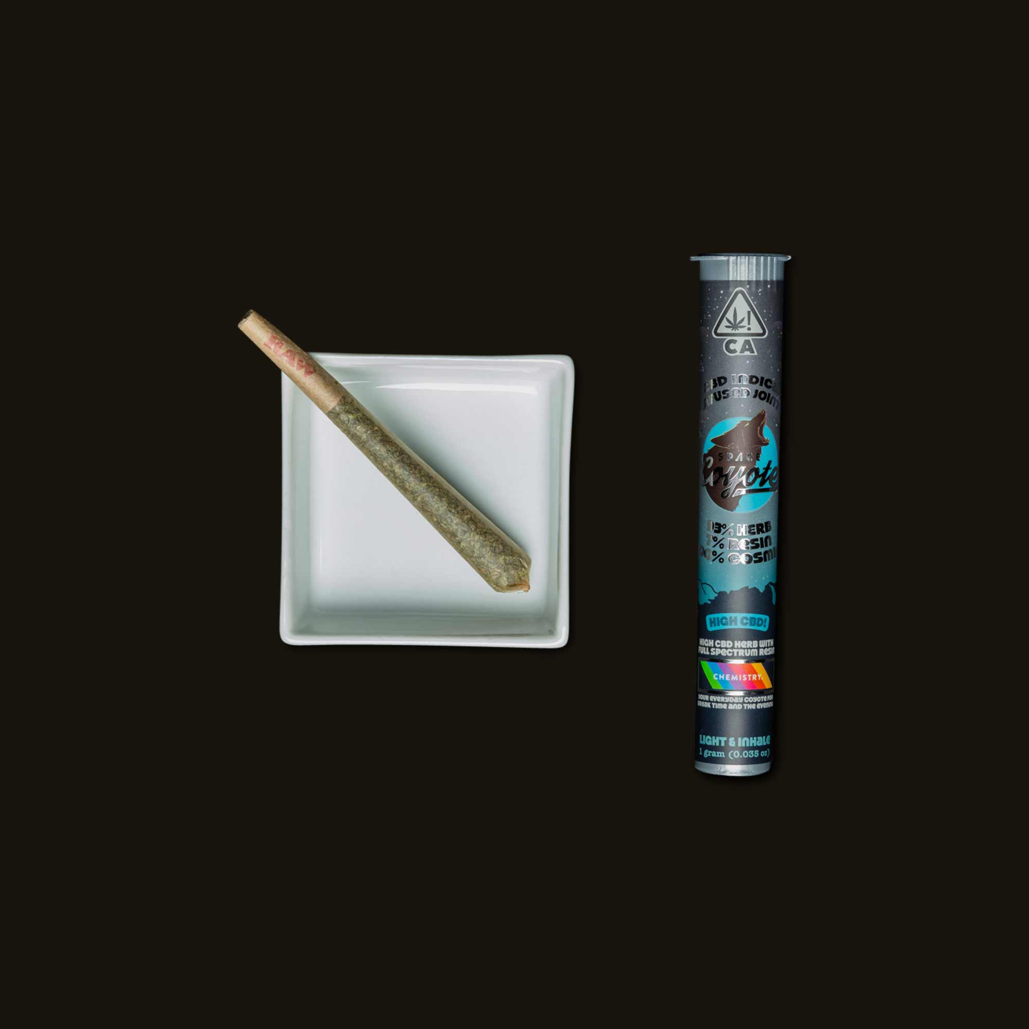 Space Coyote Indica High CBD Joint