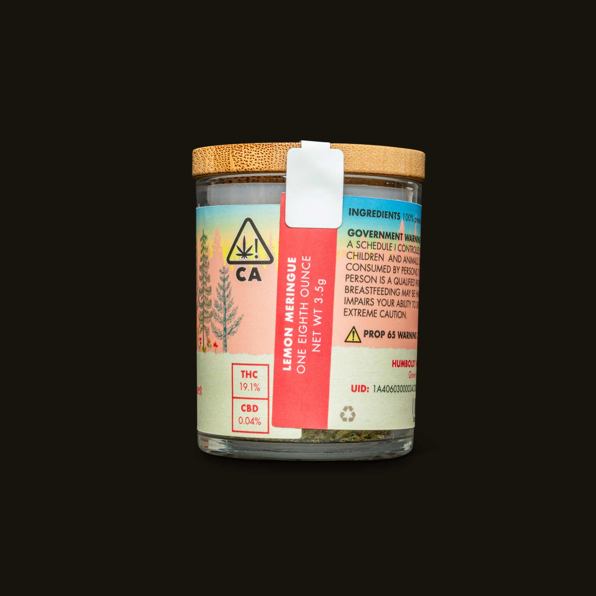 Container back label of Lemon Meringue weed