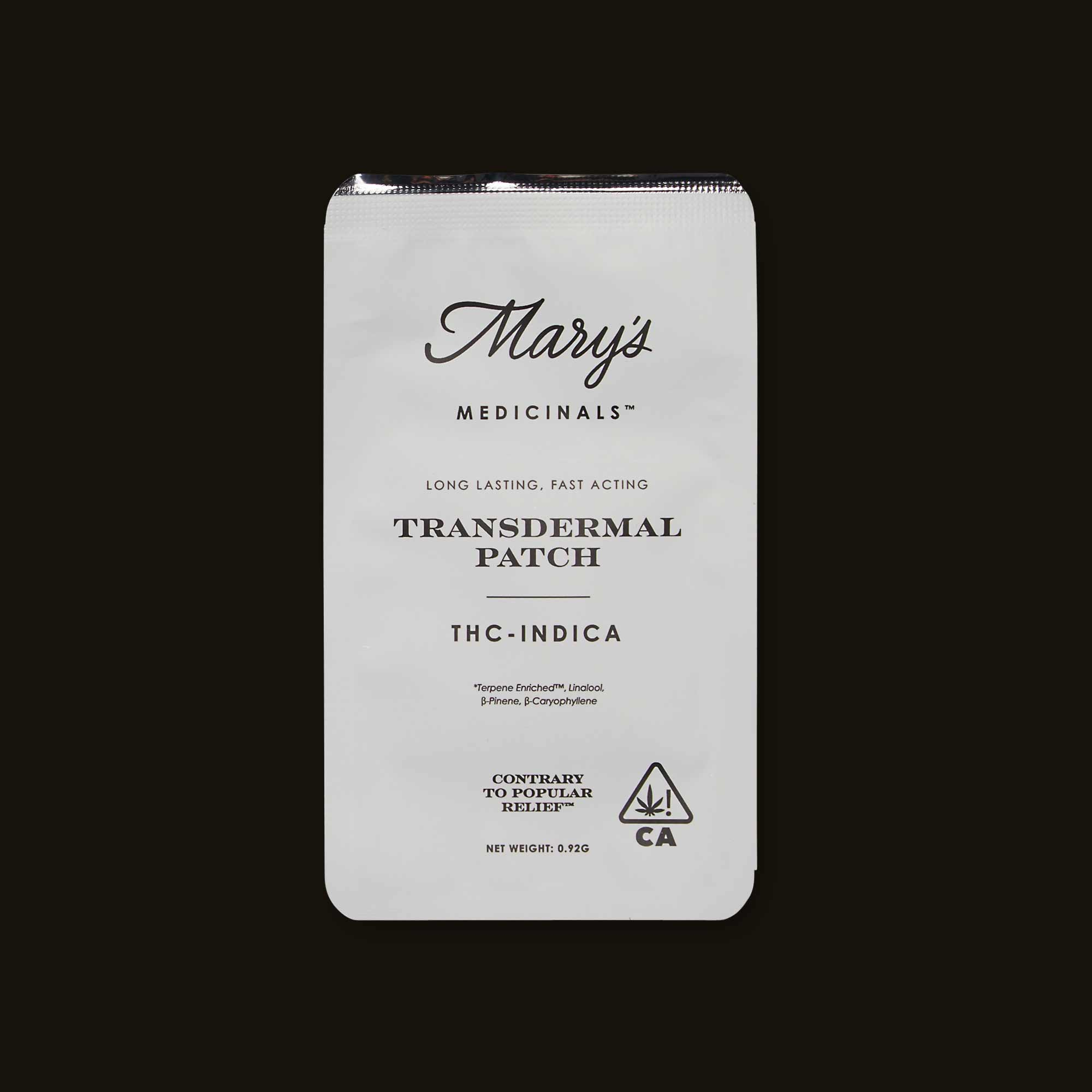 Indica THC Transdermal Patch from Mary's Medicinals