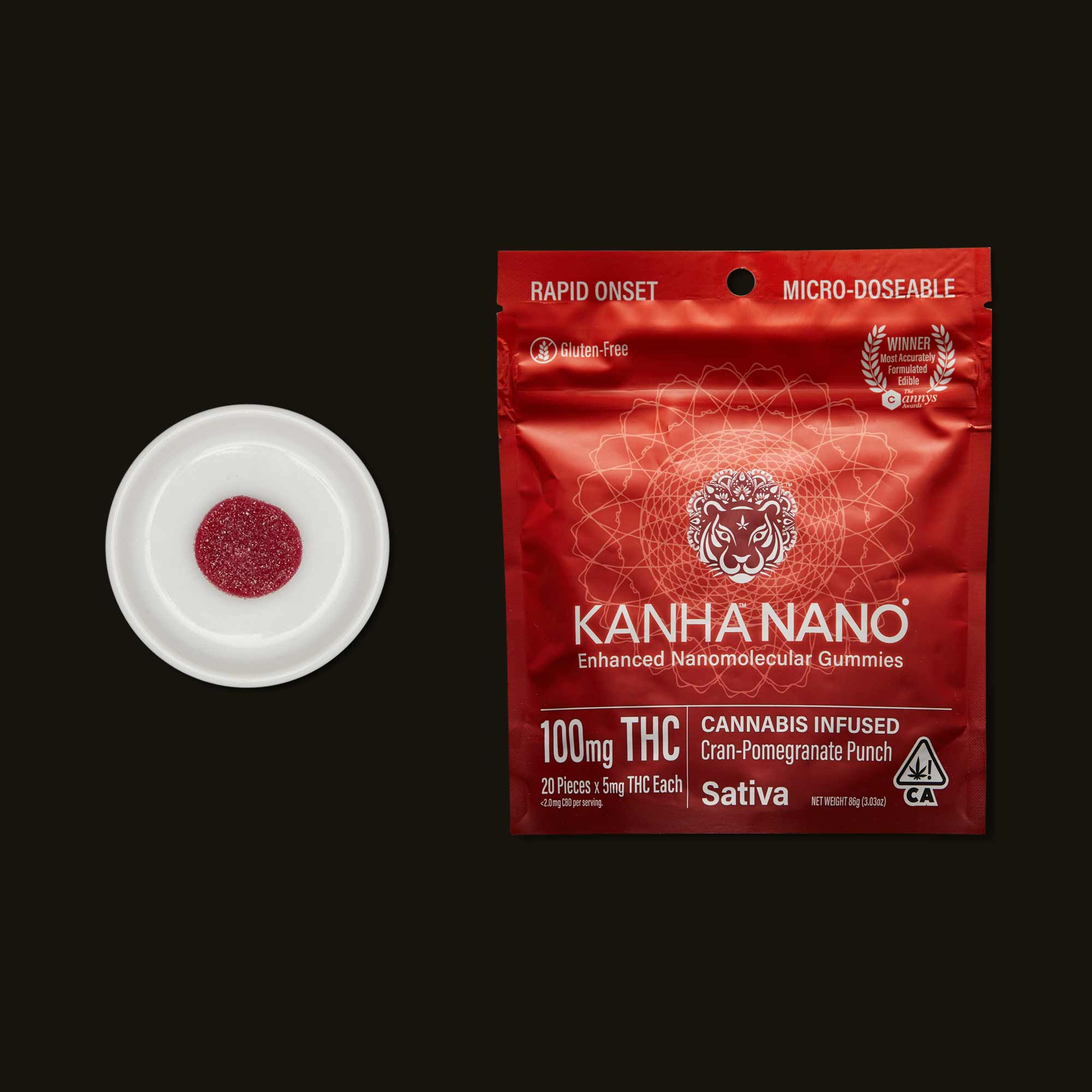 Kanha Cran-Pomegranate Nano Gummies