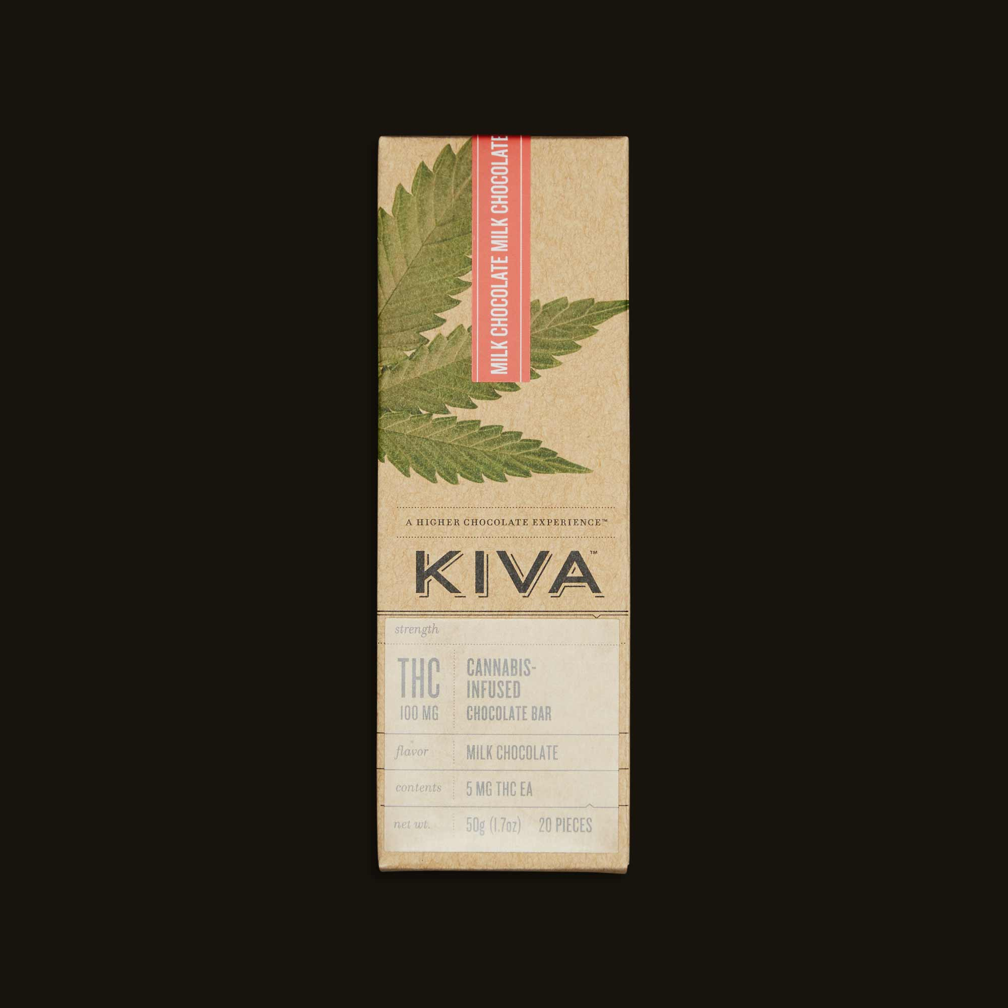 Package of Kiva Milk Chocolate Cannabis Infused bar