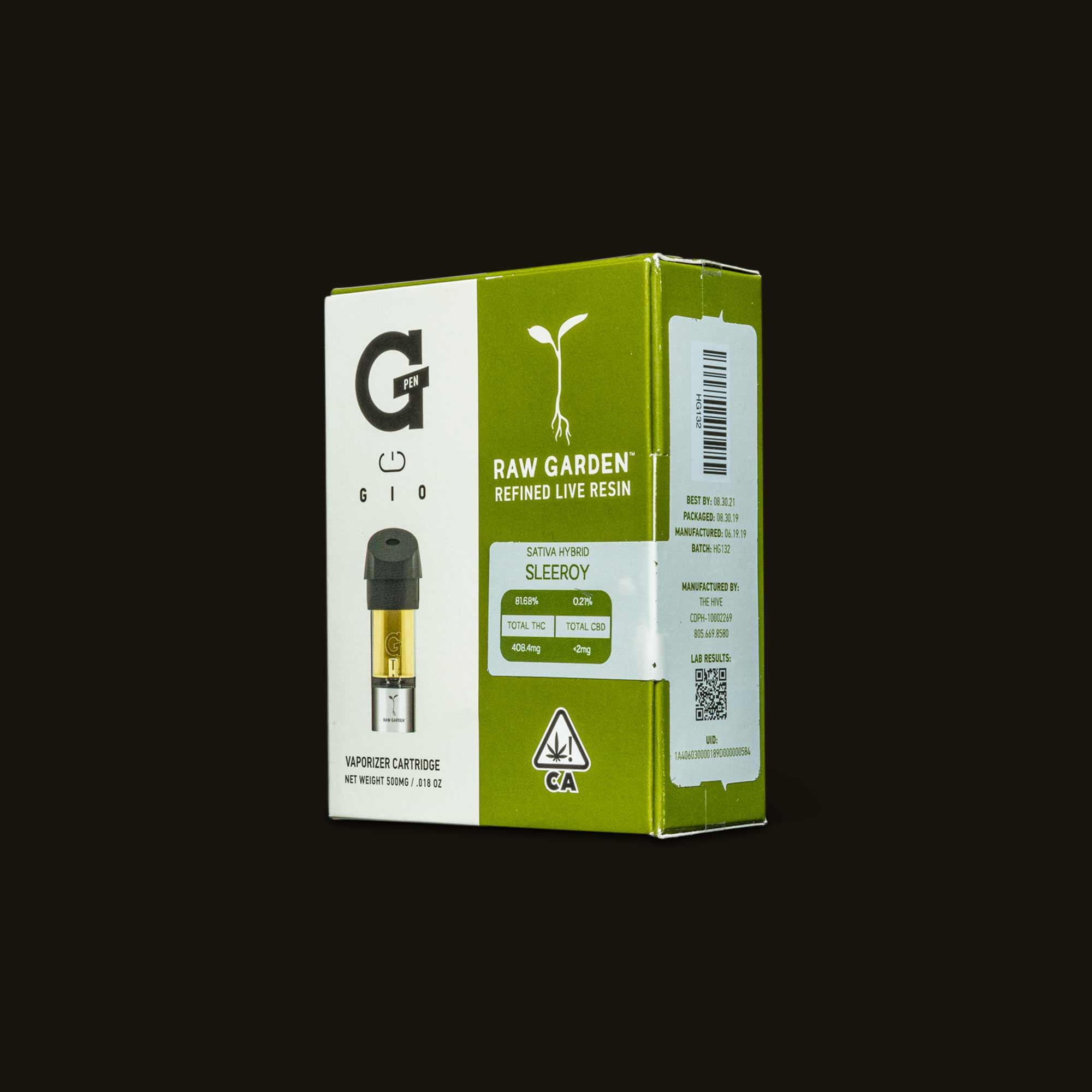 Sleeroy Raw Garden GIO Pod box
