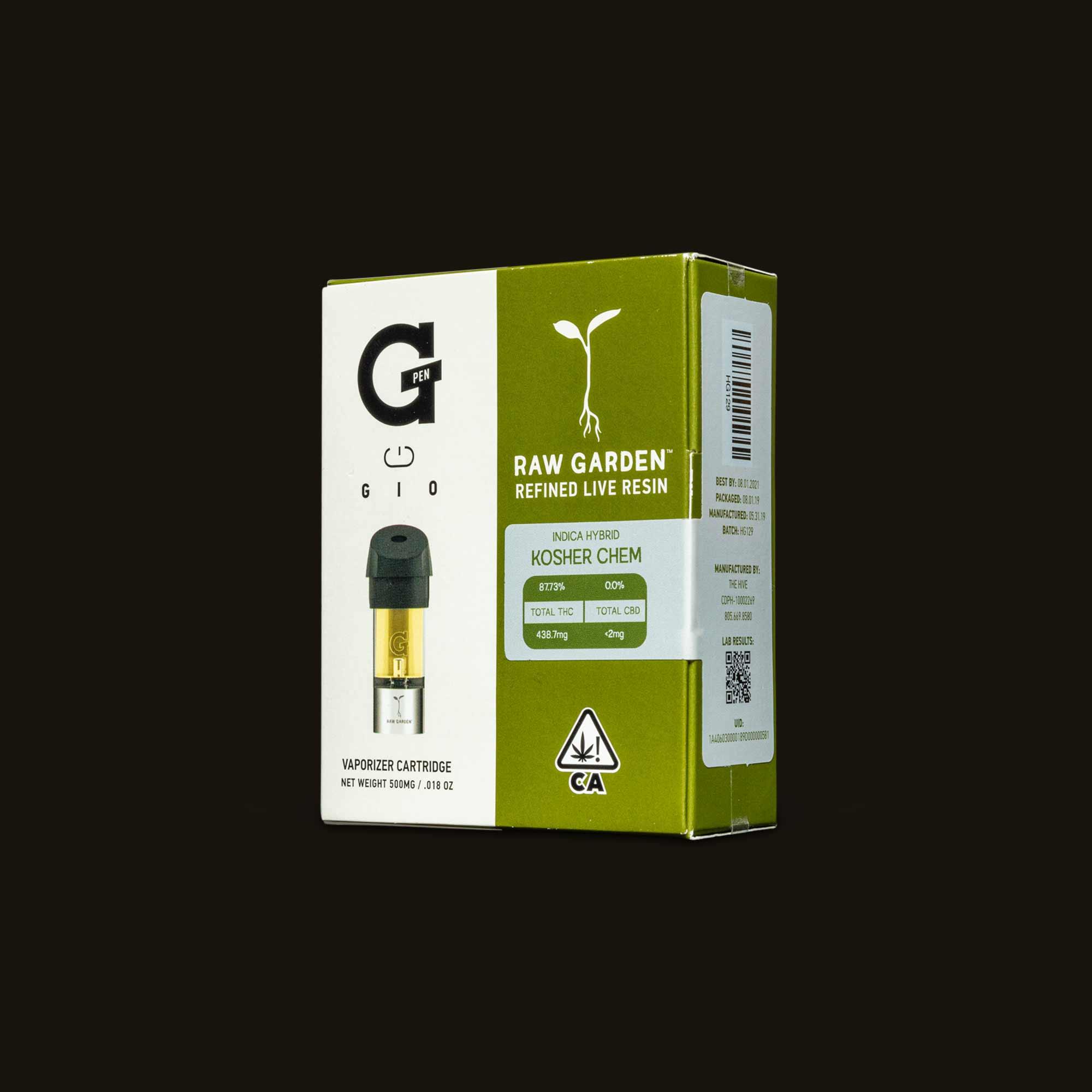 Raw Garden Kosher Chem Gio Pod Package