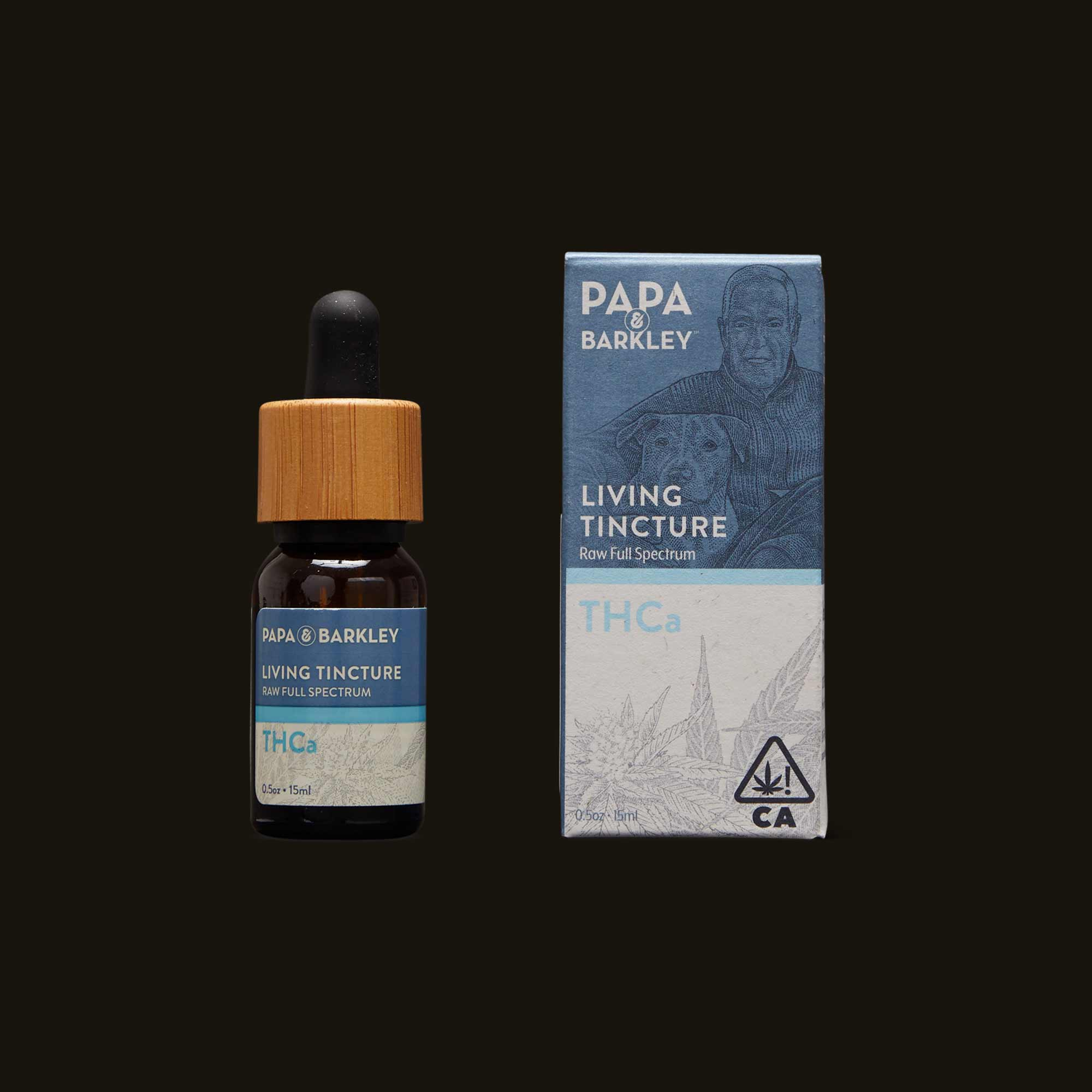 Living Tincture bottle and packaging