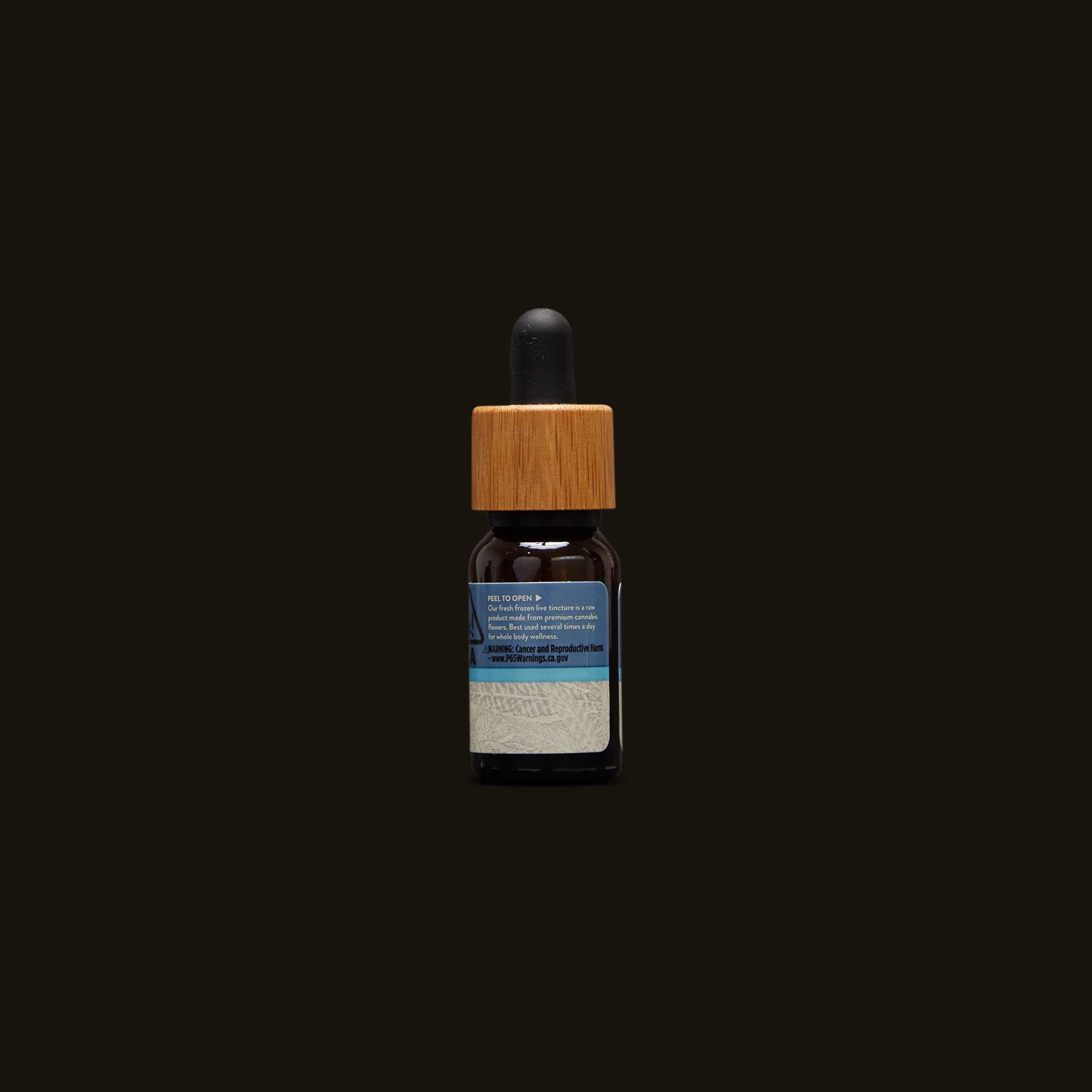Back of bottle of Papa & Barkley THCa Living Tincture
