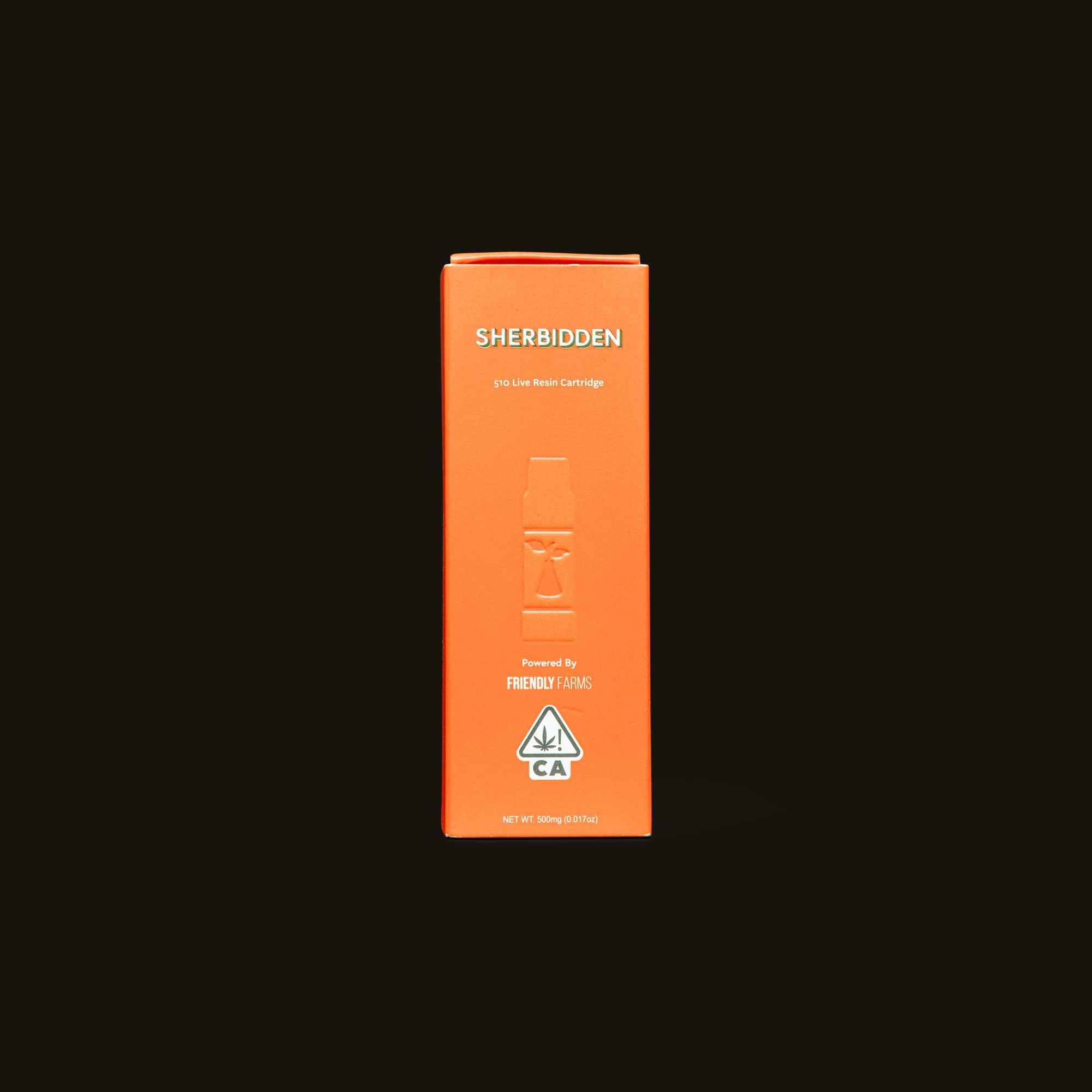 Sherbidden Live Resin Cartridge - 500mg cartridge