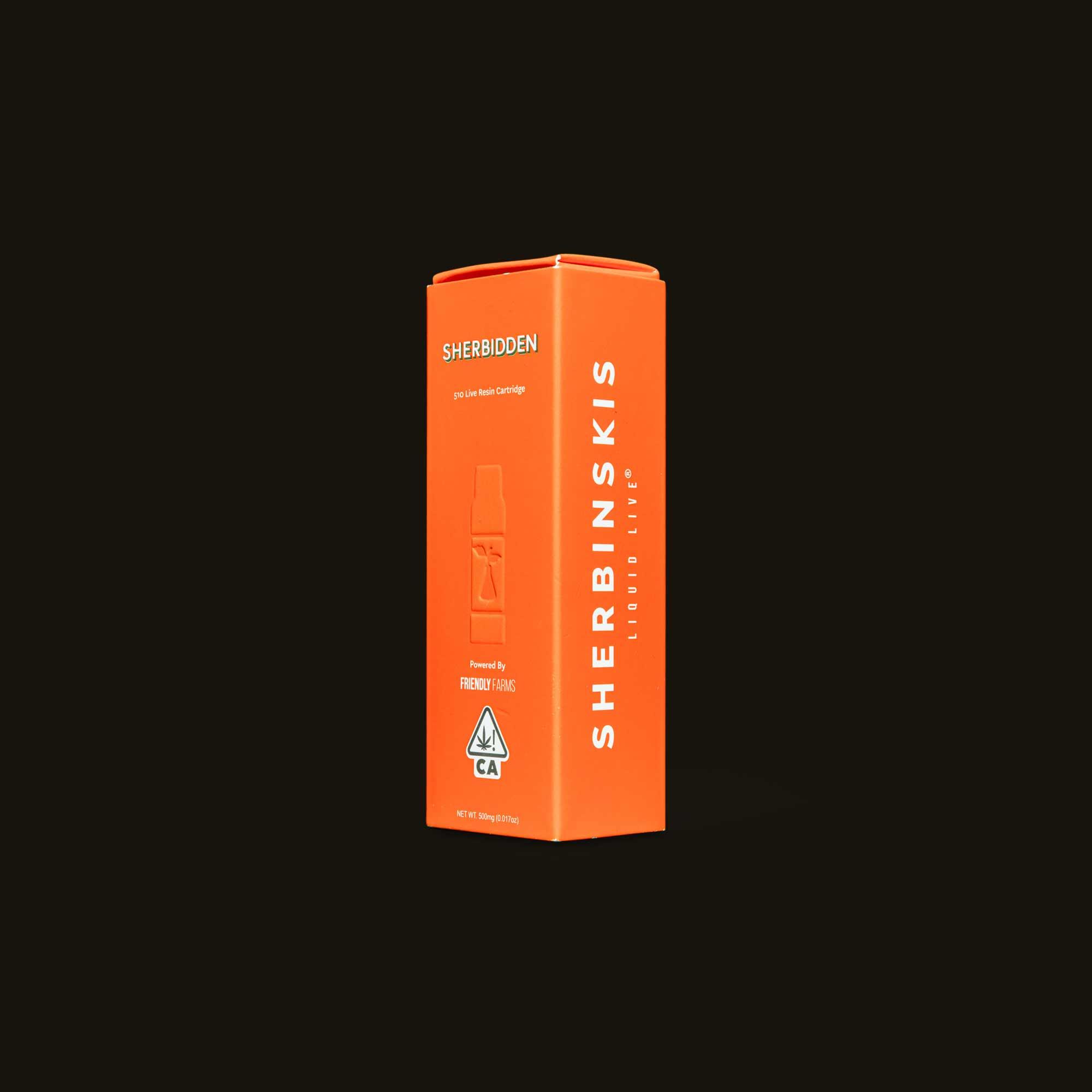 Sherbinskis Vape Pen - Sherbidden Live Resin Cartridge