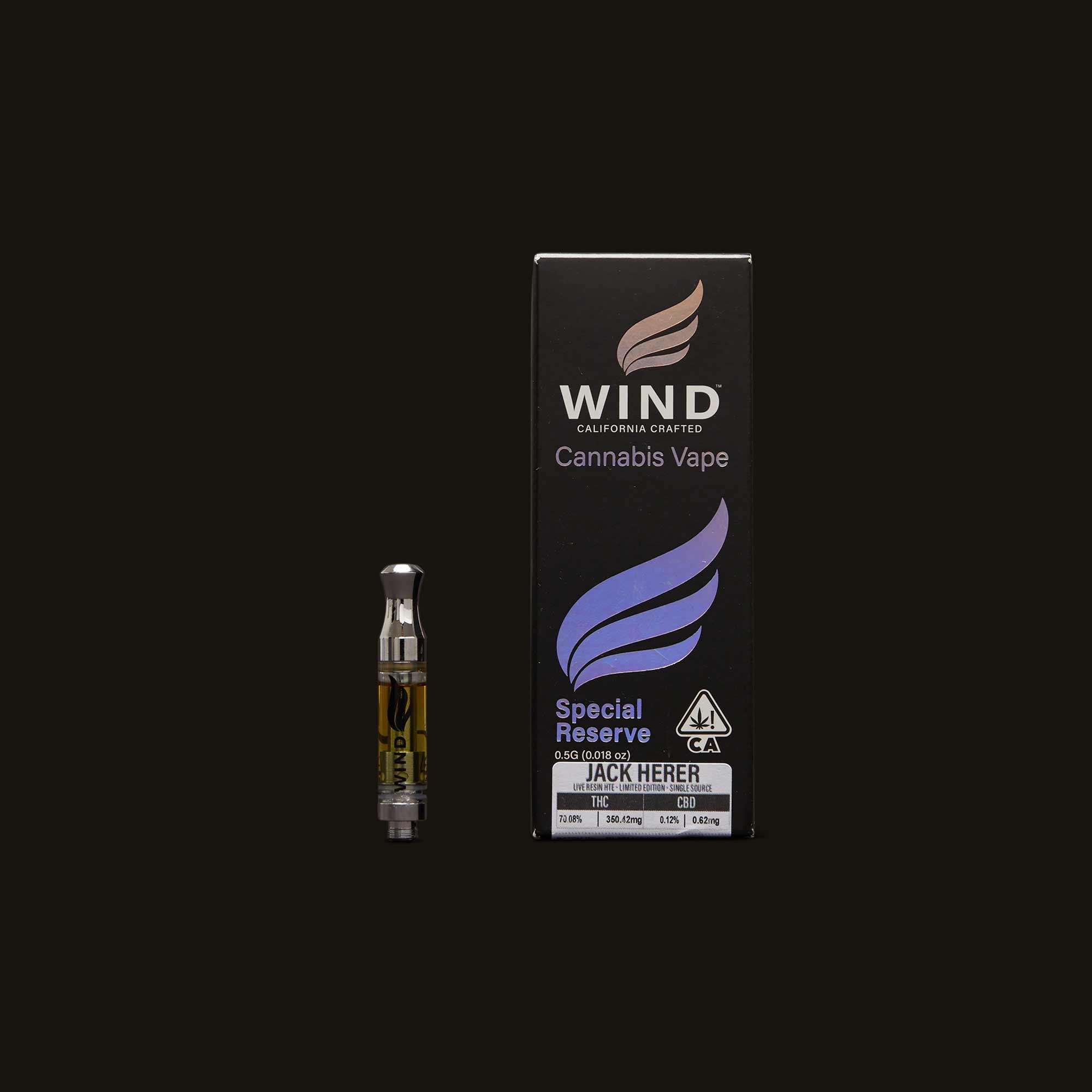 Wind Jack Herer Special Reserve Cartridge
