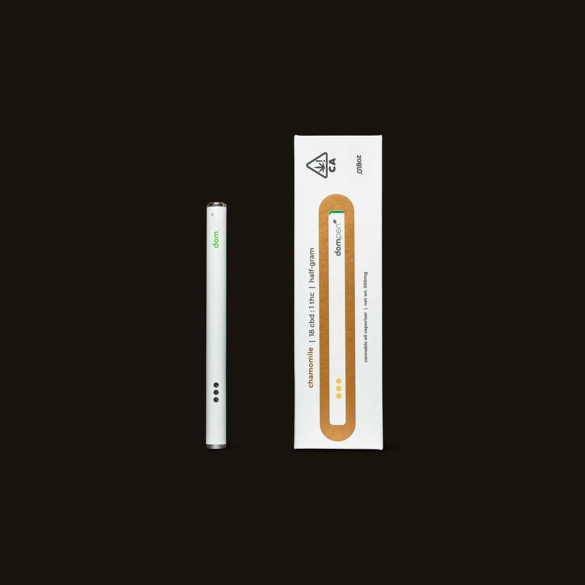 DomPen Chamomile 18:1 CBD Disposable