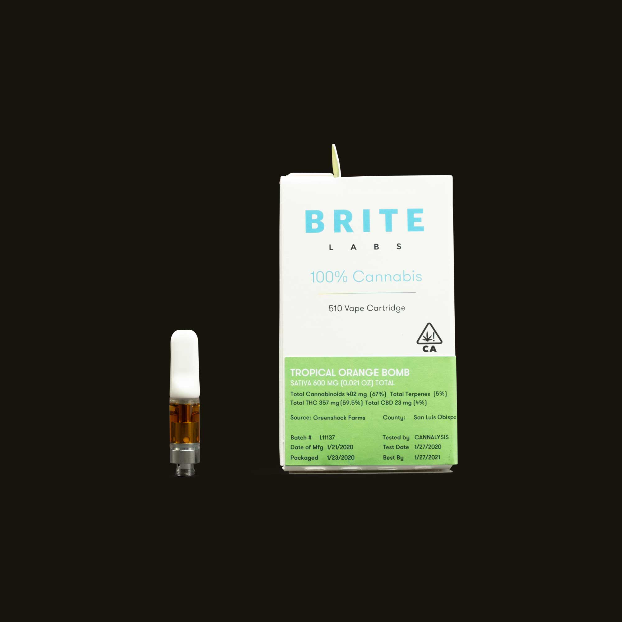 Brite Labs Tropical Orange Bomb Cartridge