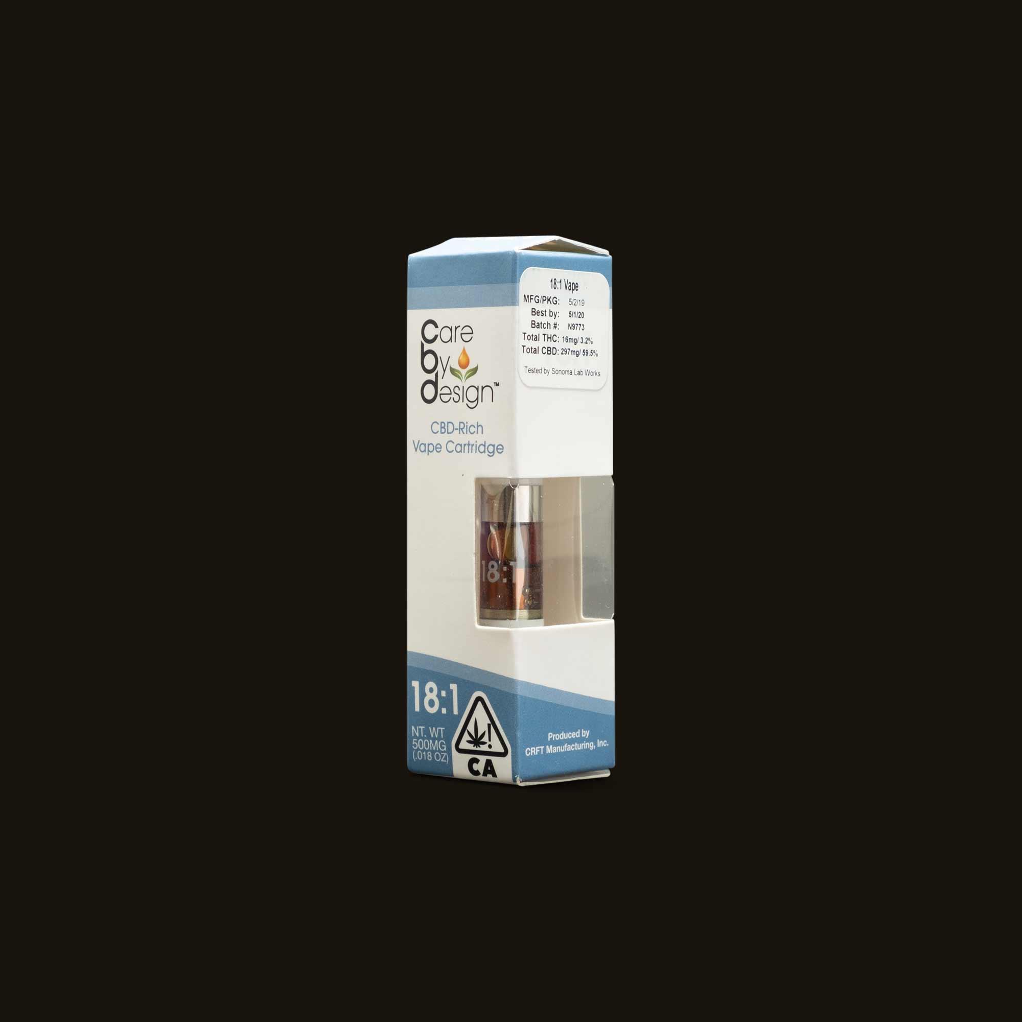 Care By Design 18:1 Vape Cartridge