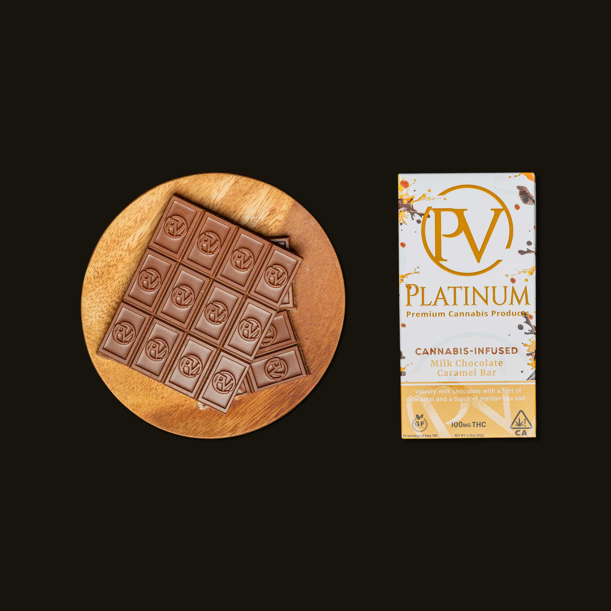 Platinum Milk Chocolate Caramel Bar