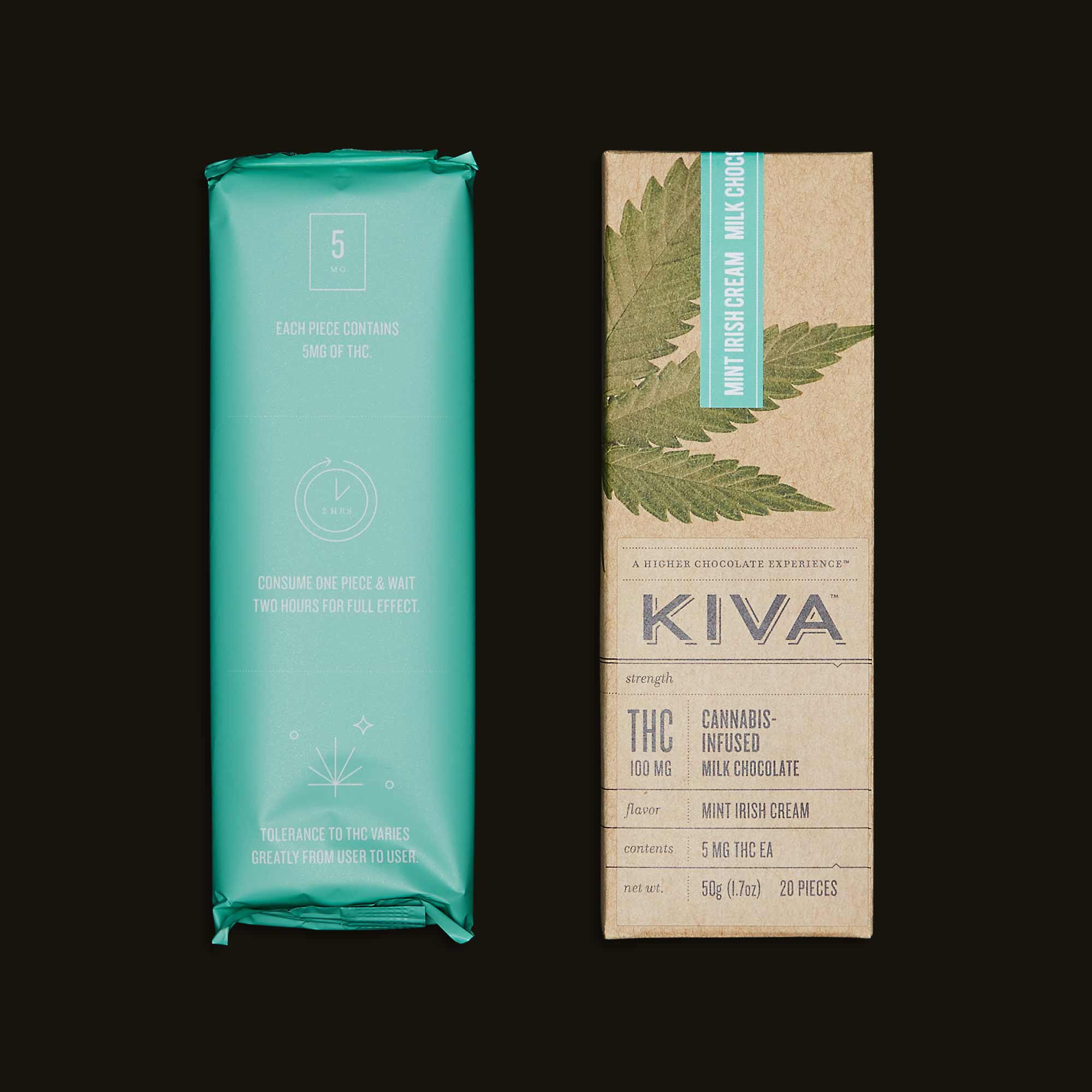 Kiva Confections Mint Irish Cream Kiva Bar