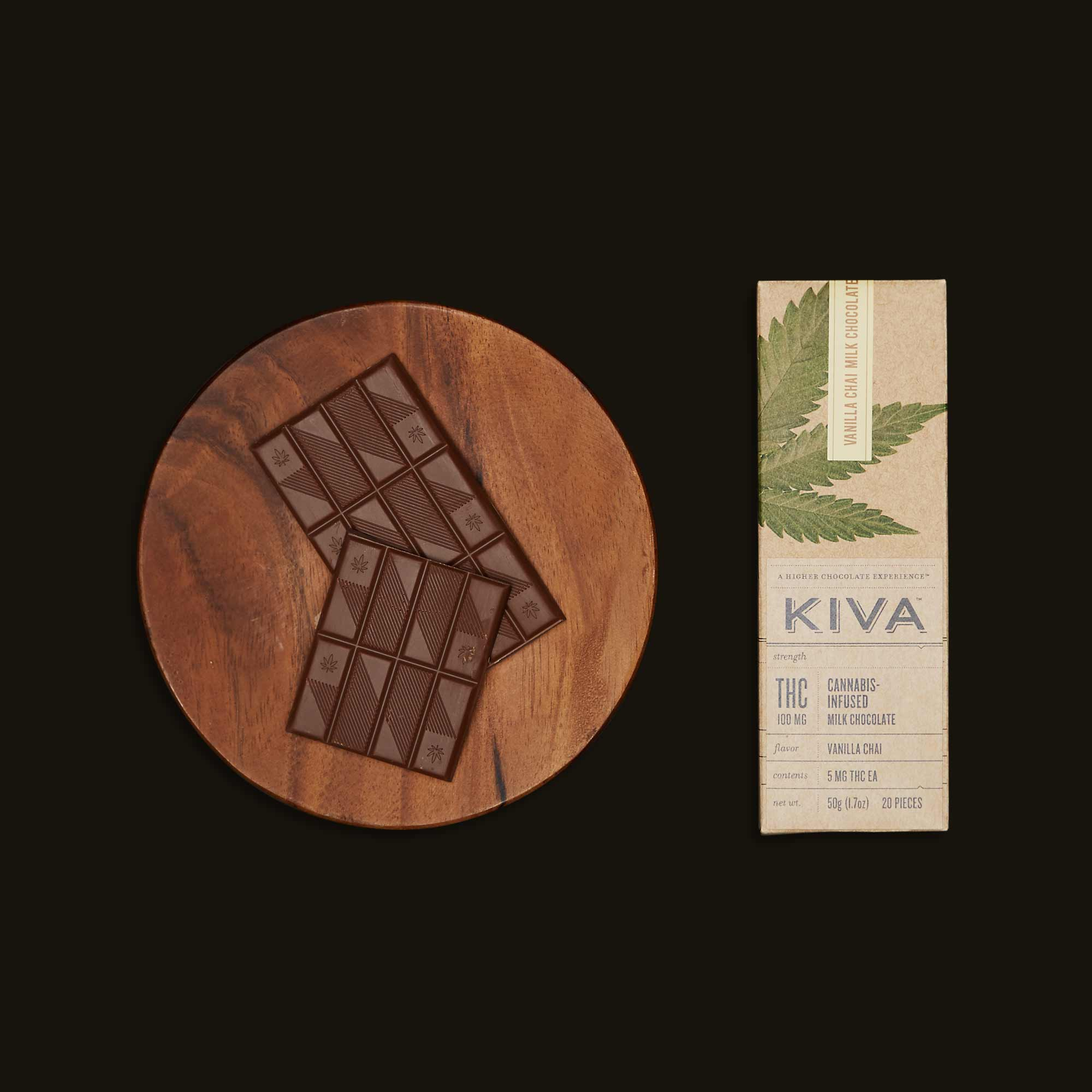 Kiva Confections Vanilla Chai Kiva Bar