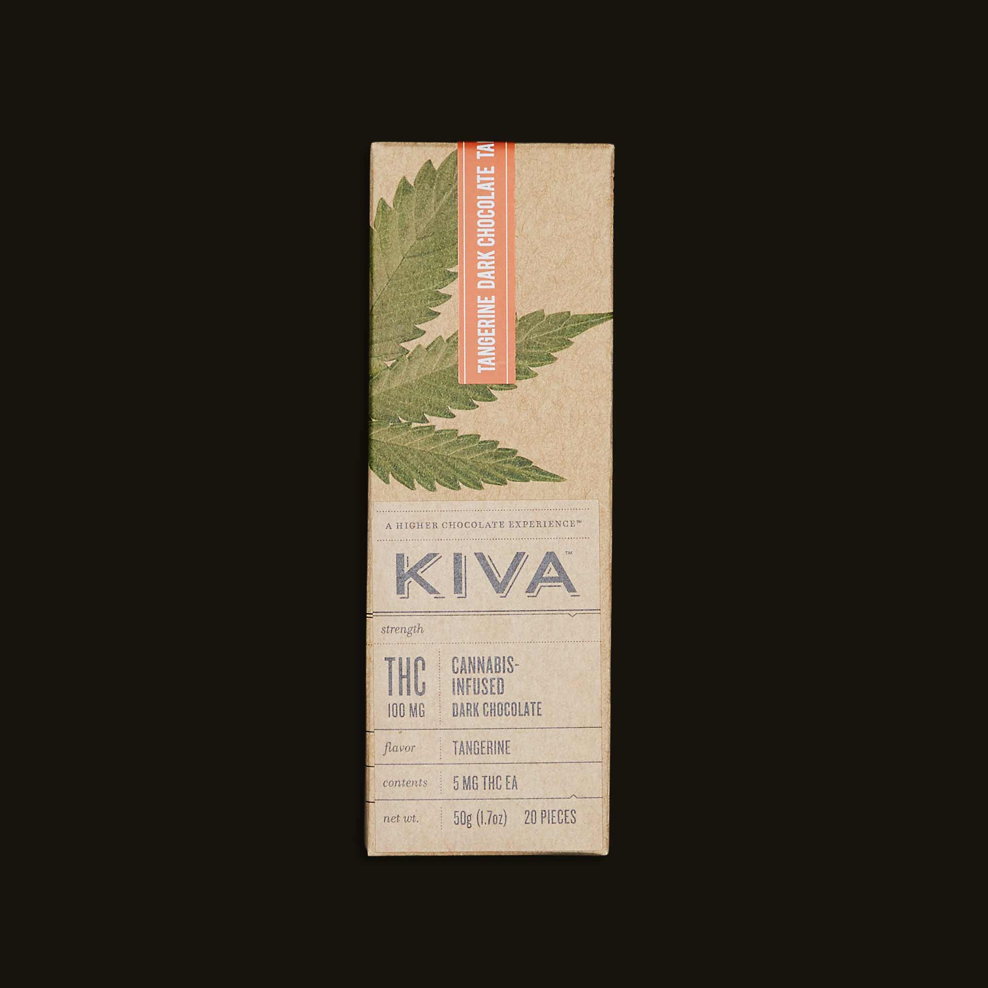 Kiva Confections Tangerine Kiva Bar