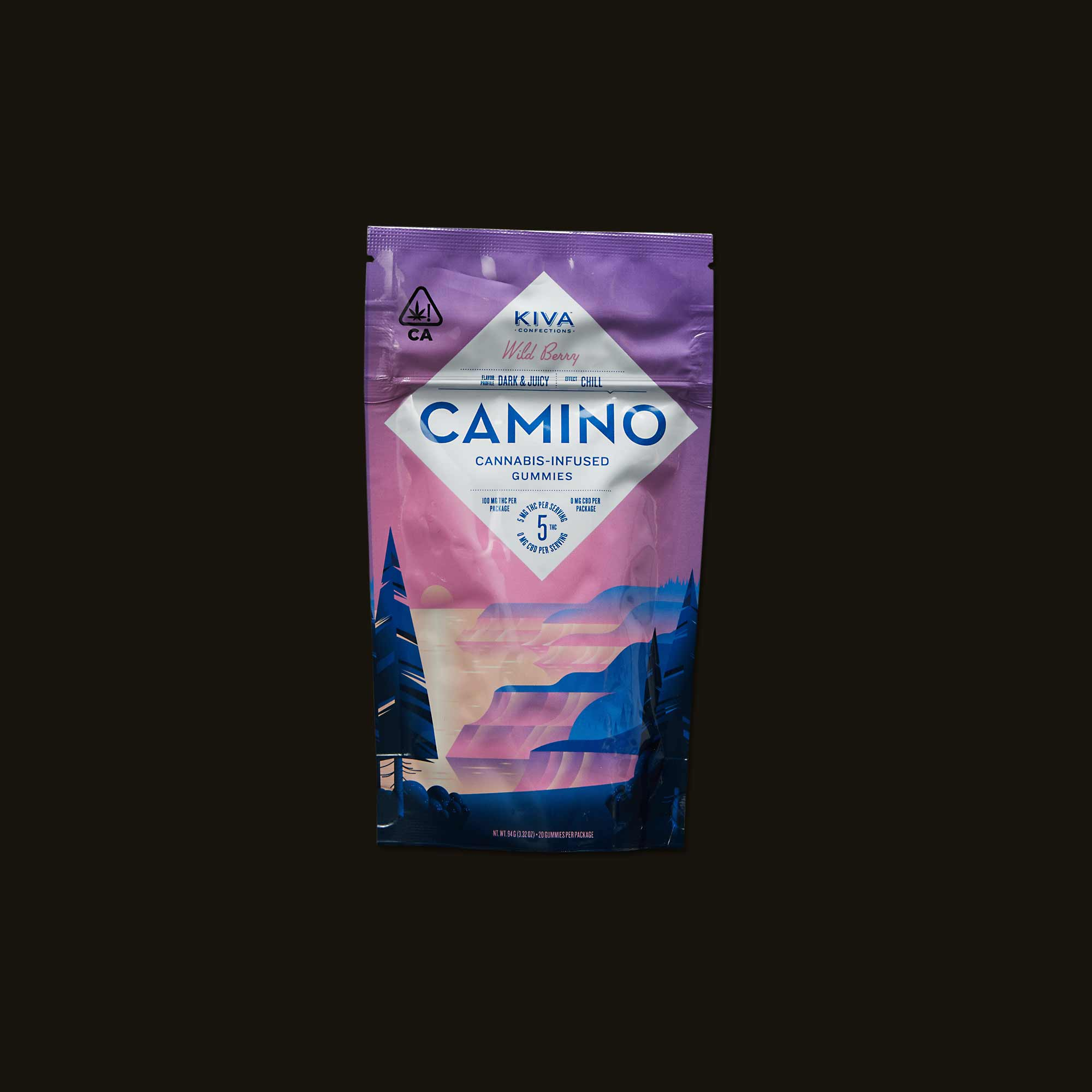 Package of Camino Wild Berry Gummies as reviewed