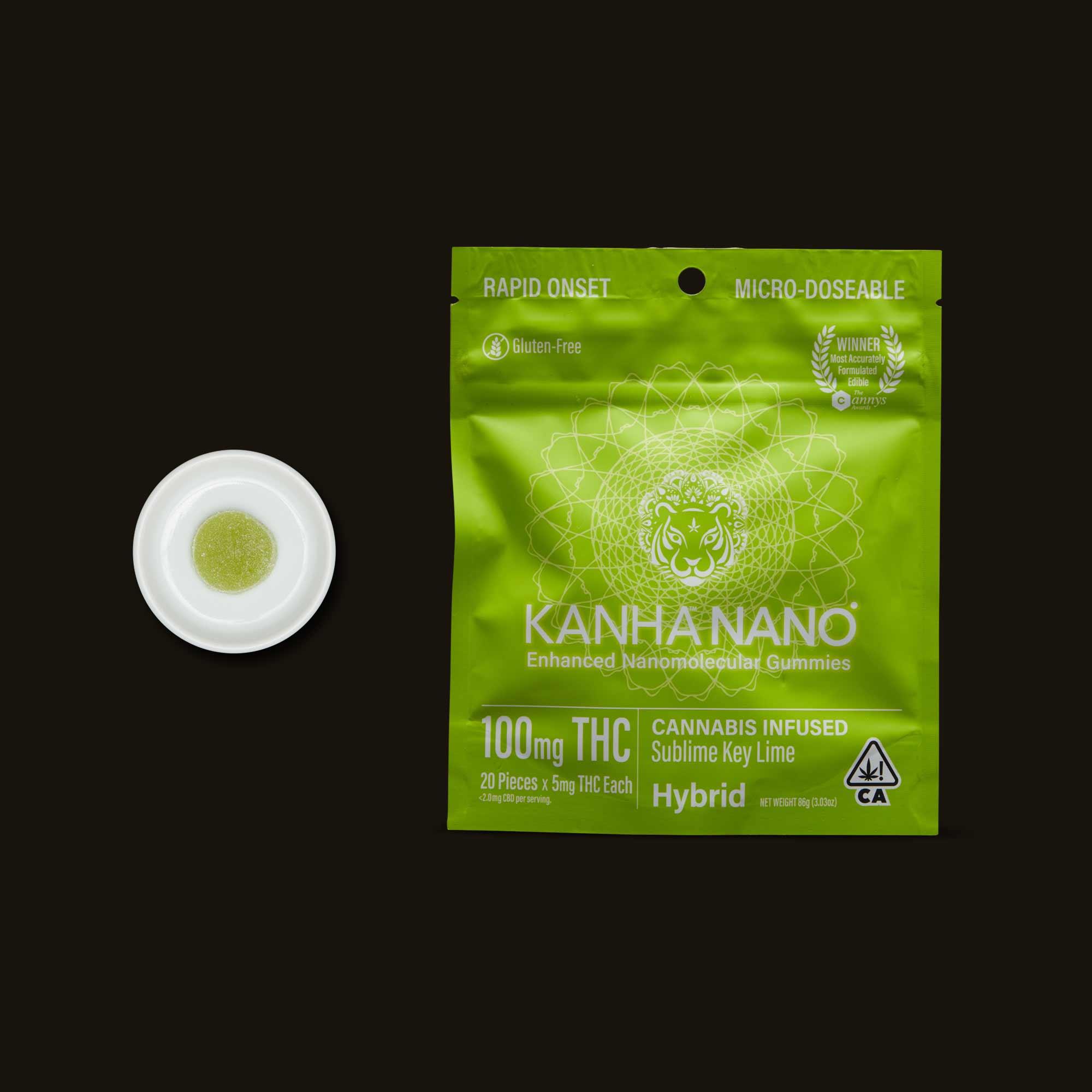 Kanha Sublime Key Lime Nano Gummies