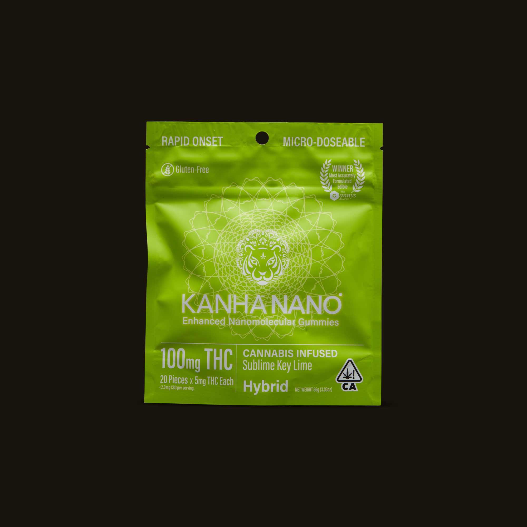 Sublime Key Lime Nano Gummies - 20 gummies (100 mg THC)