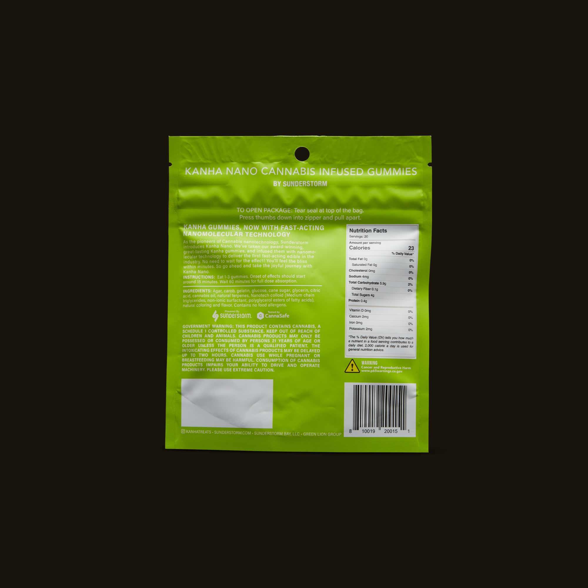 Kanha Edible - Sublime Key Lime Nano Gummies
