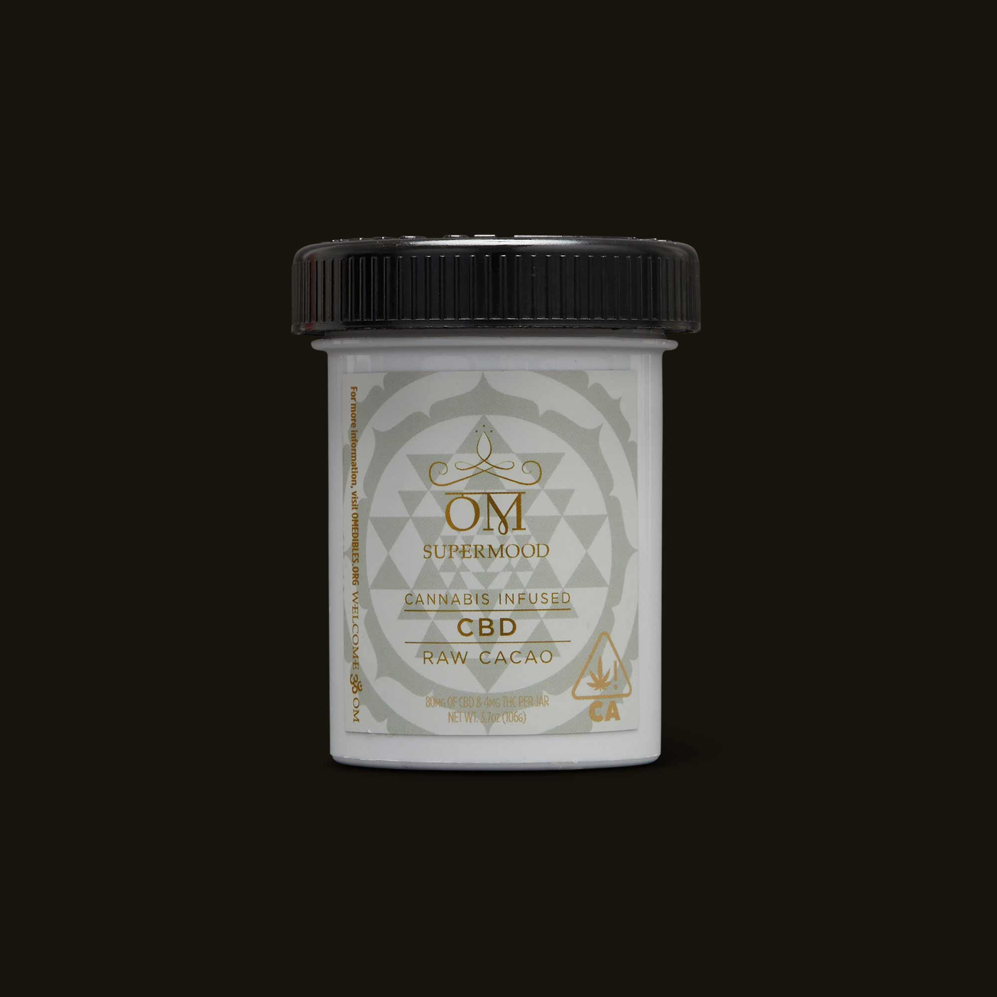 Om Edibles CBD Infused Raw Cacao