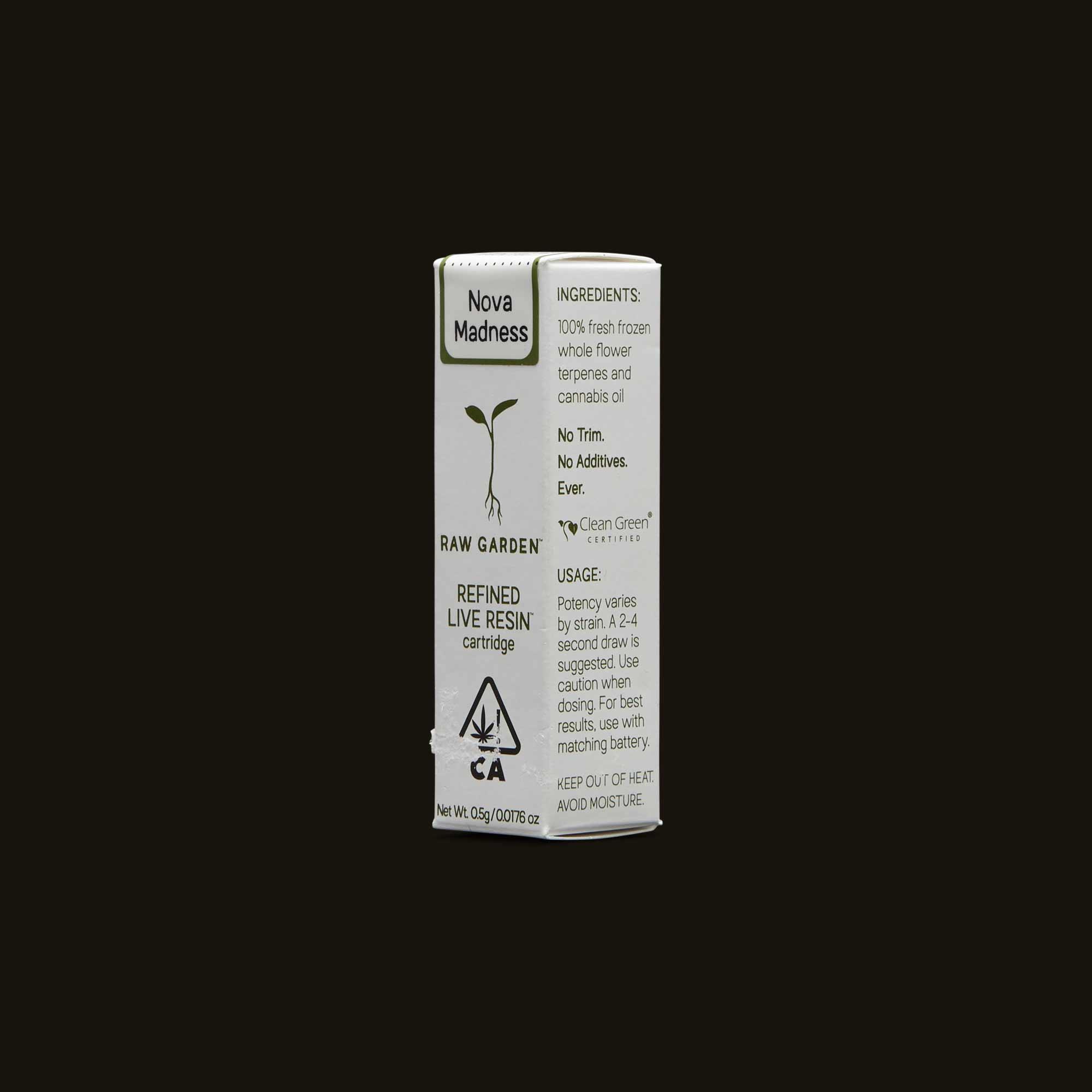 Raw Garden Vape Pen - Nova Madness Cartridge