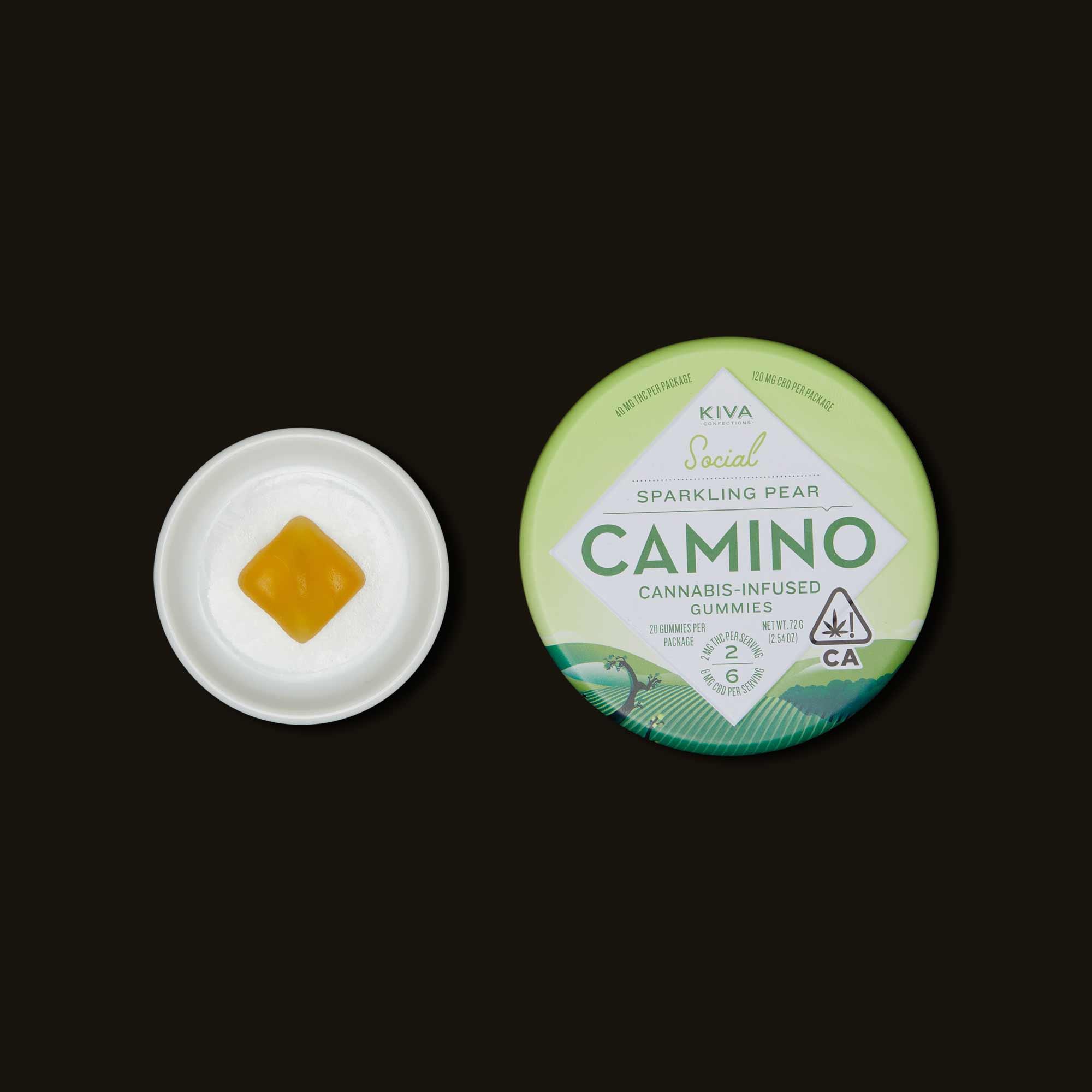 Kiva Confections Camino Sparkling Pear Gummies