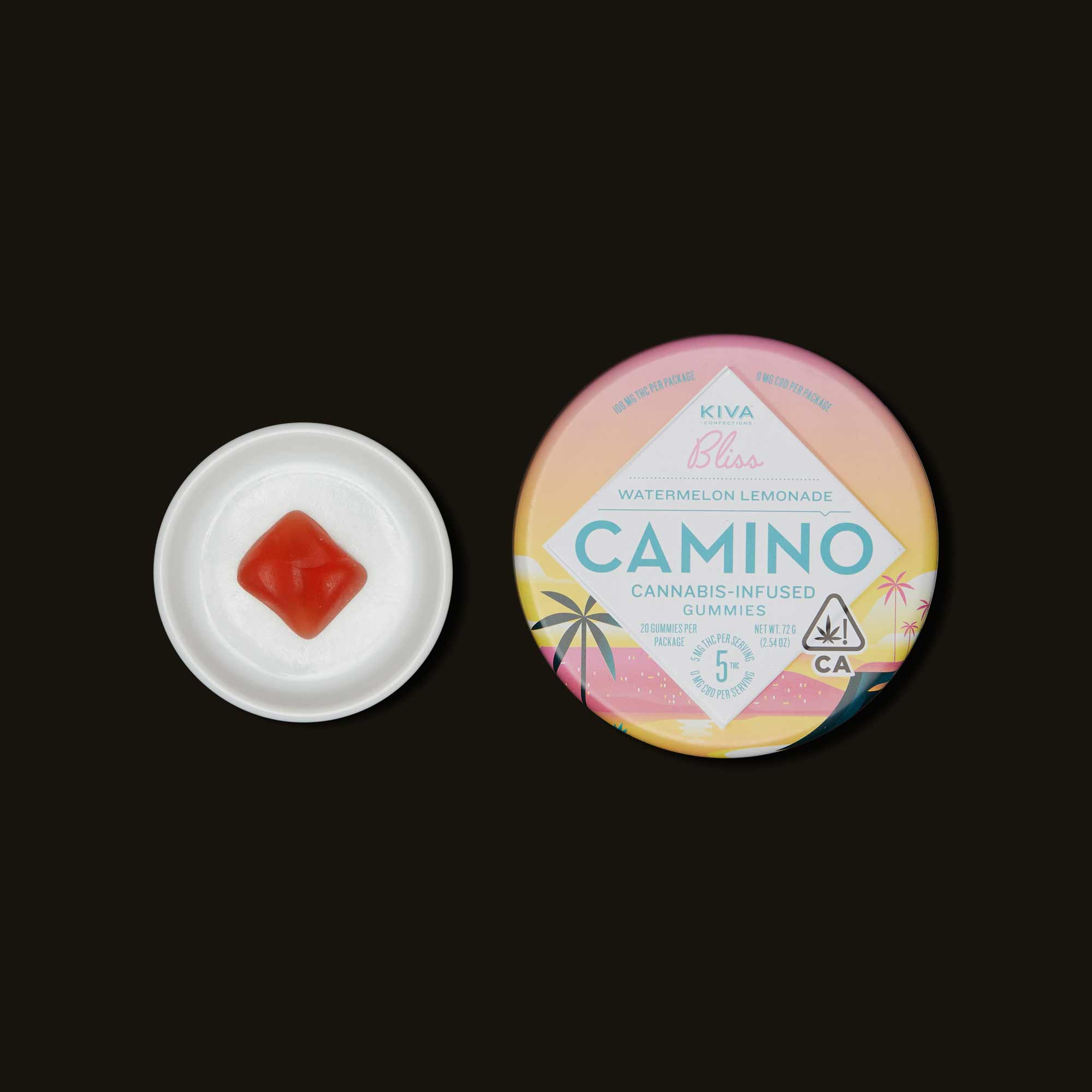 Kiva Confections Camino Watermelon Lemonade Gummies
