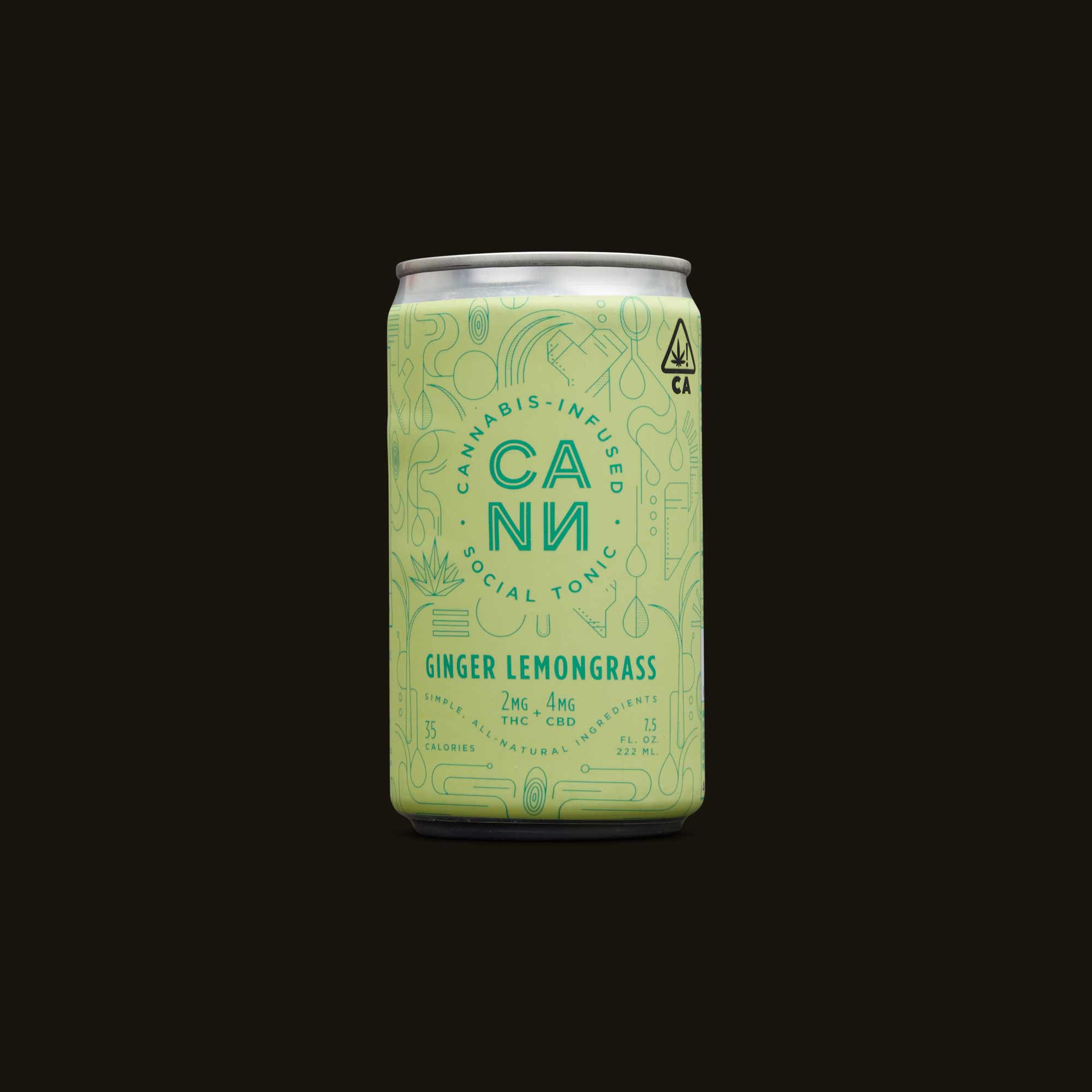 Cann Ginger Lemongrass Social Tonic