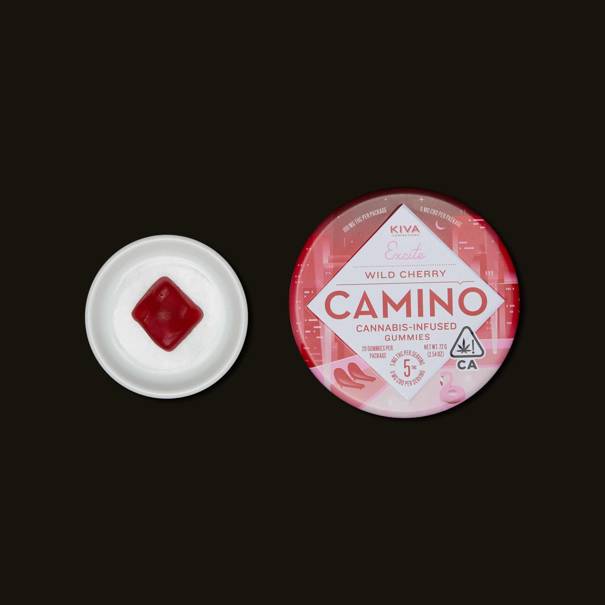 Kiva Camino Wild Cherry Gummies