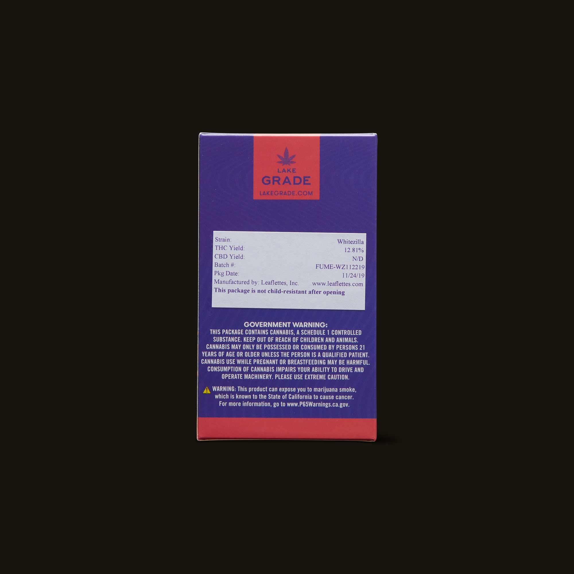 Lakegrade Pre-Rolls - Whitezilla Pre-Roll 5-Pack