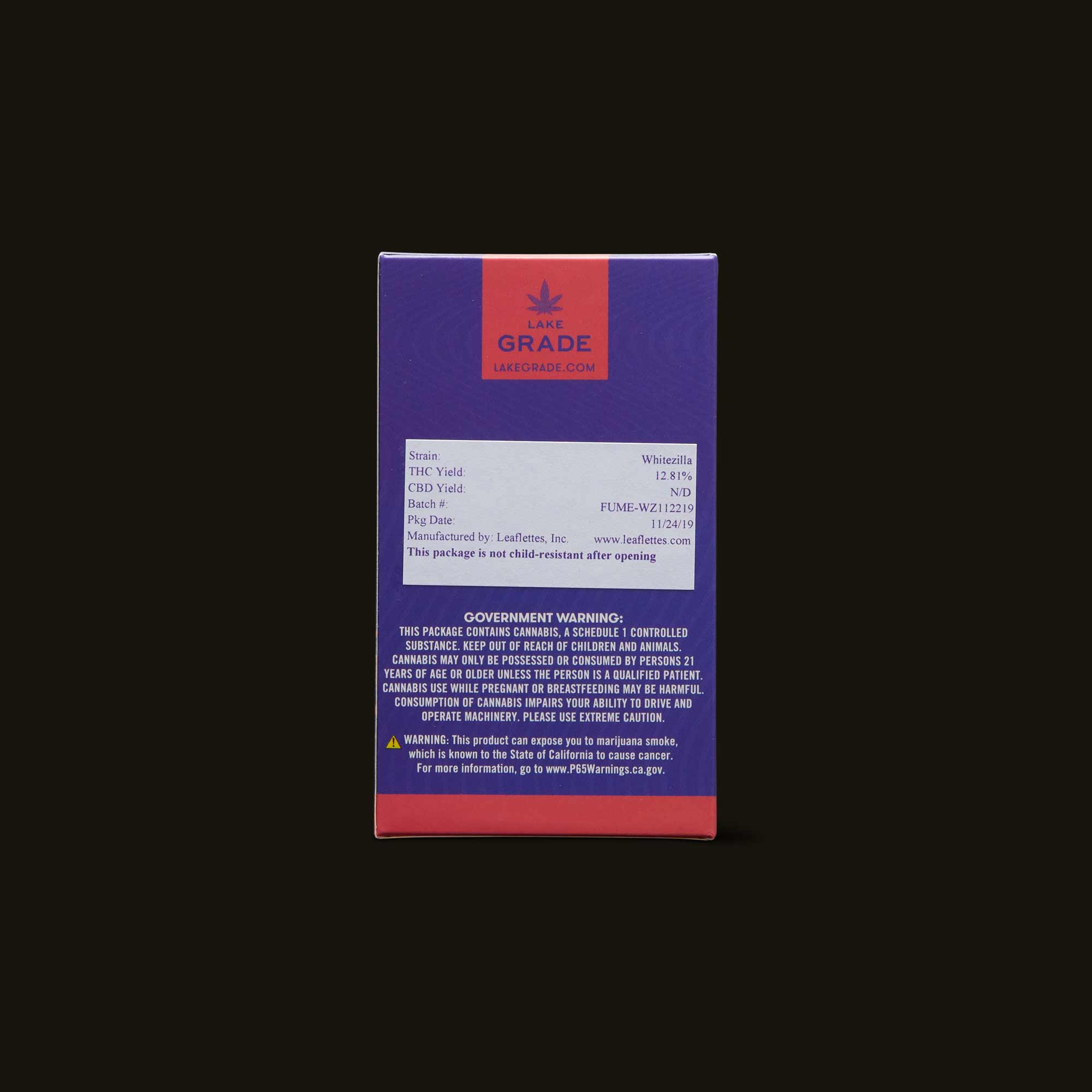 Lakegrade Whitezilla Pre-Roll 5-Pack