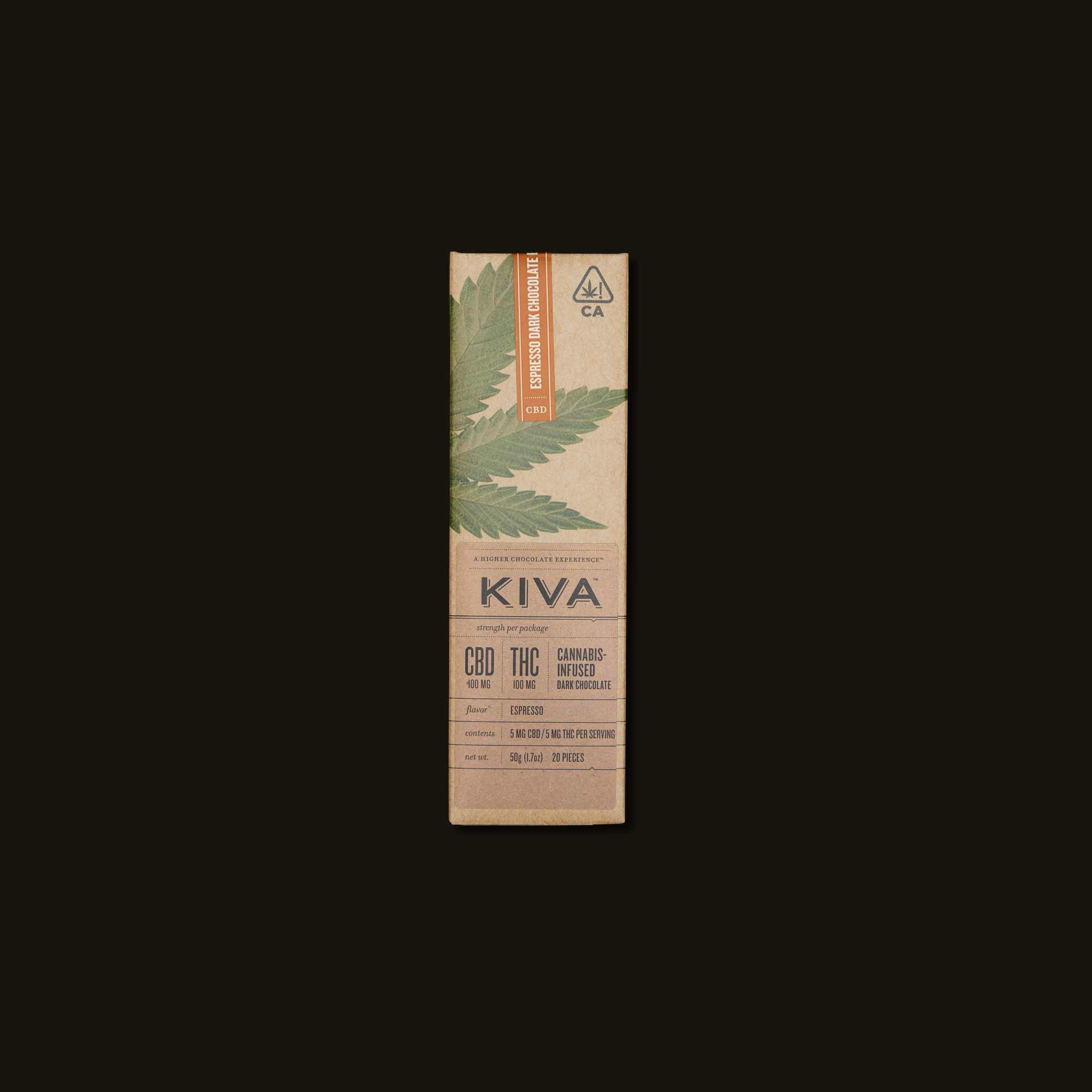 Kiva Espresso Dark Chocolate Kiva Bar