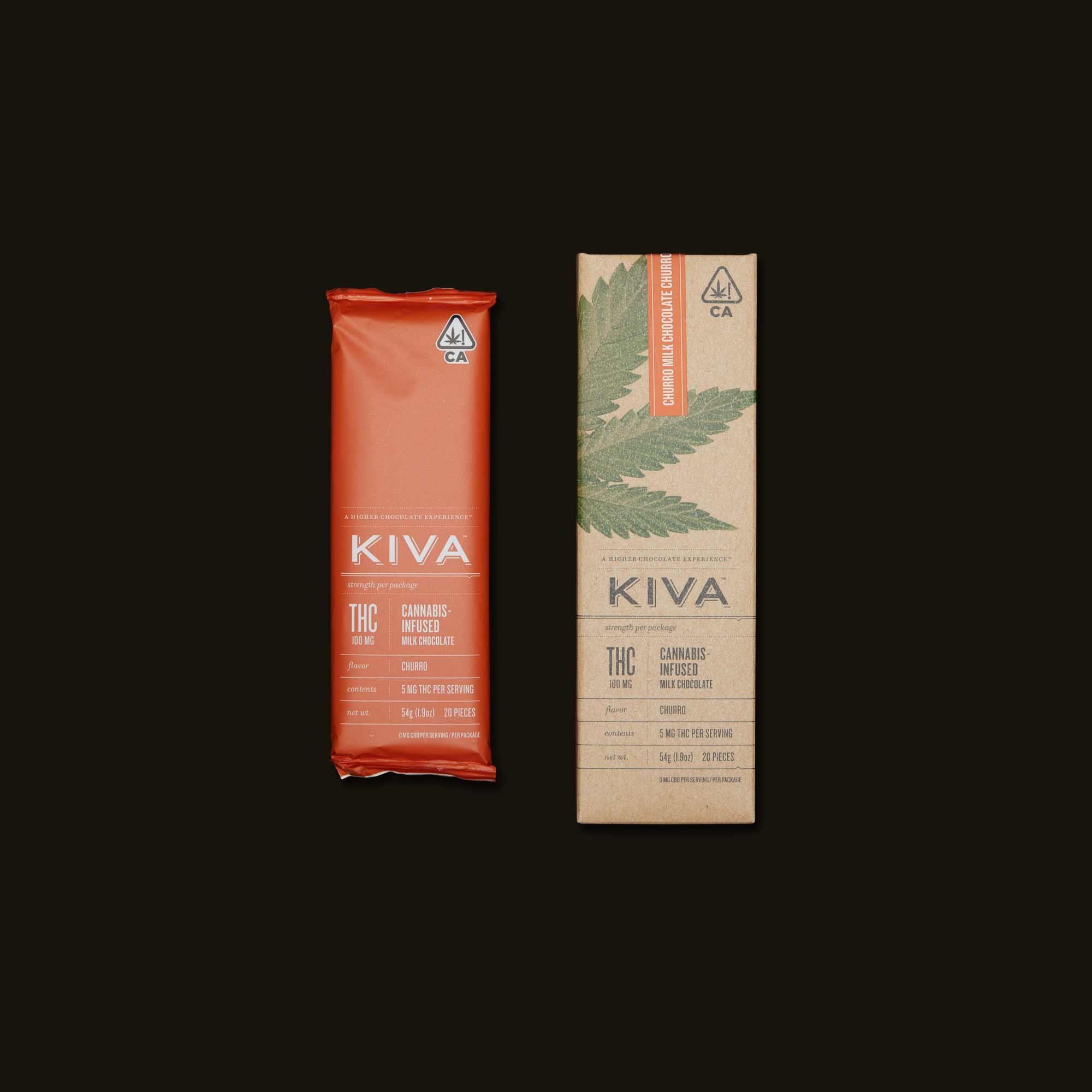 Kiva Confections Churro Milk Chocolate Kiva Bar
