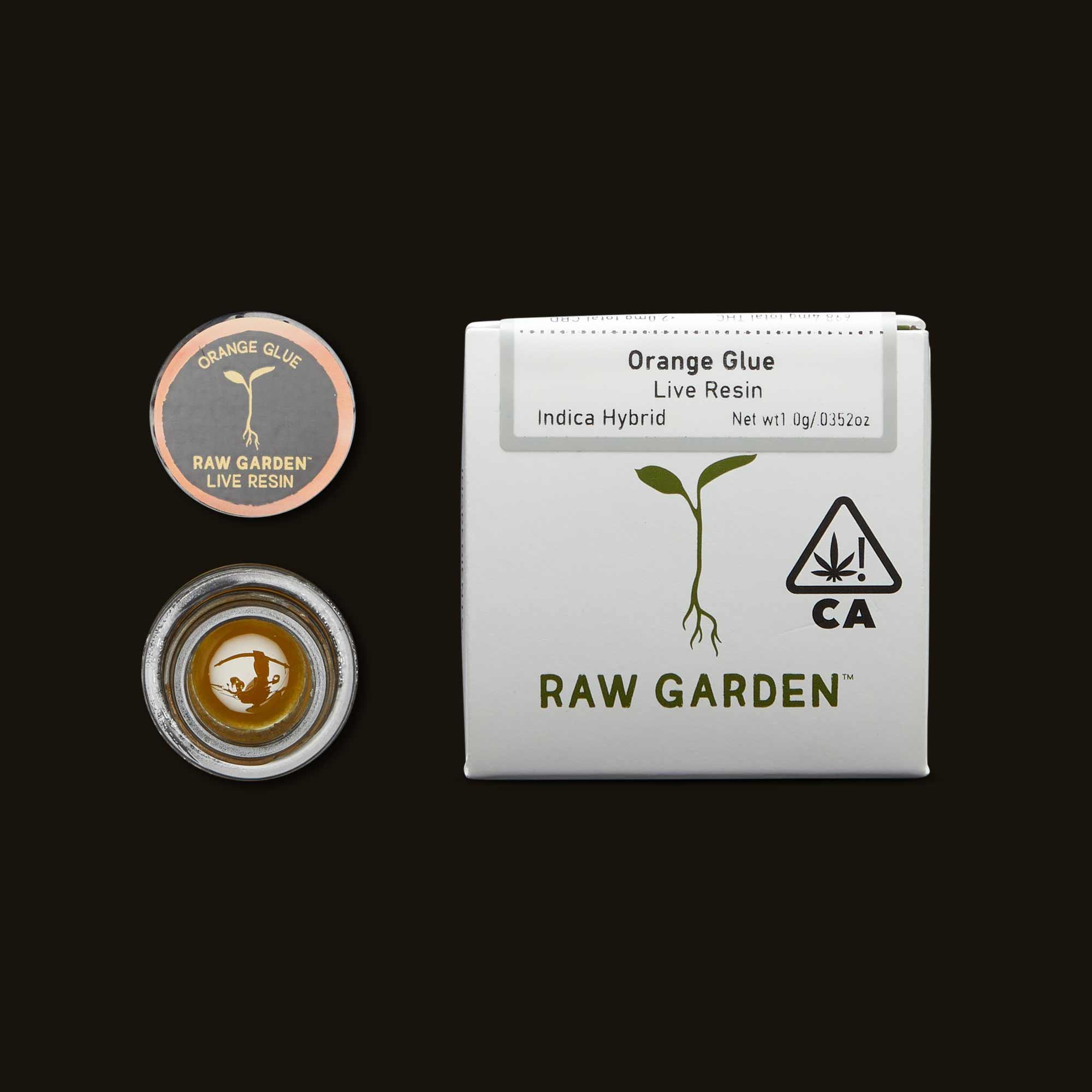 Orange Glue Live Resin from Raw Garden