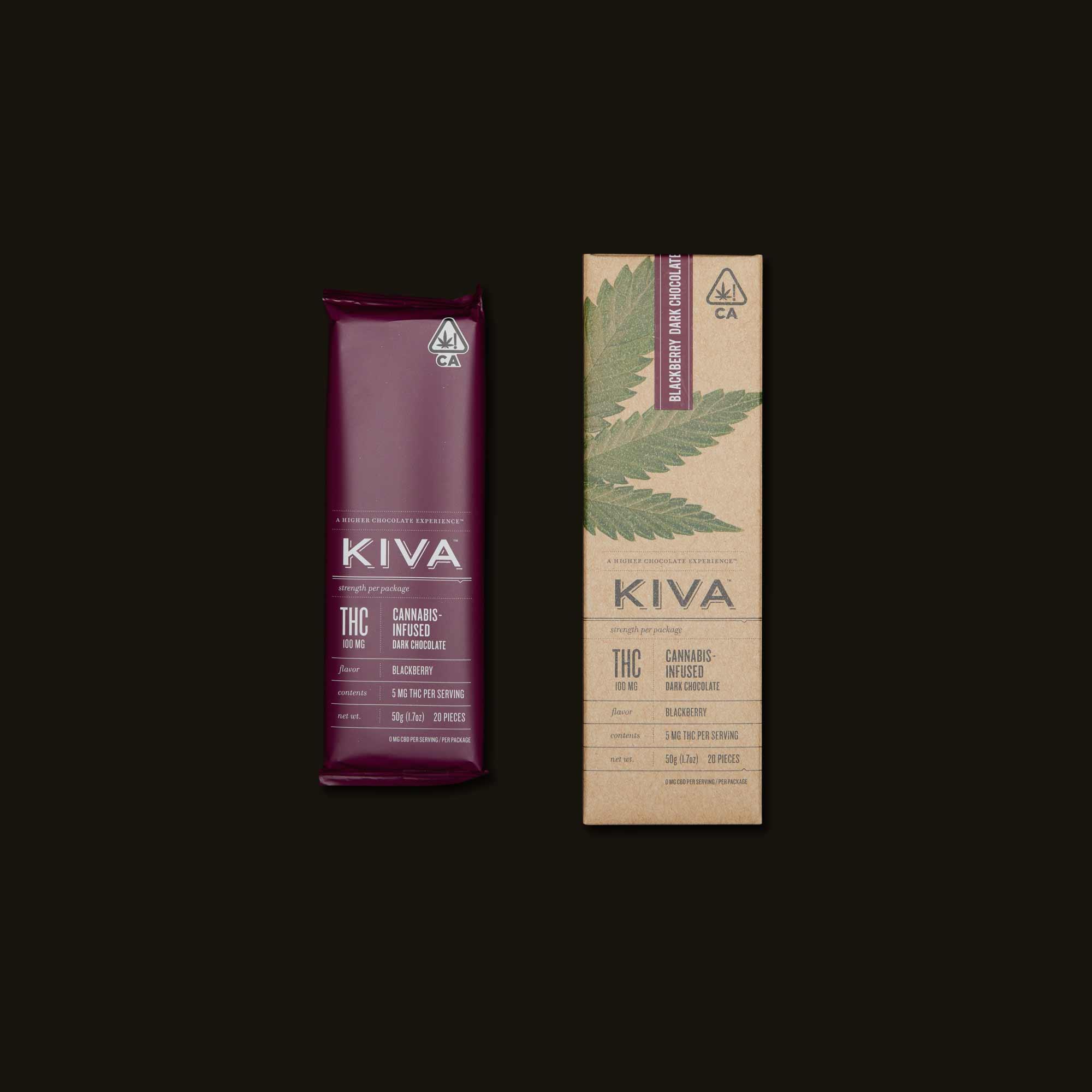 Kiva Confections Blackberry Kiva Bar