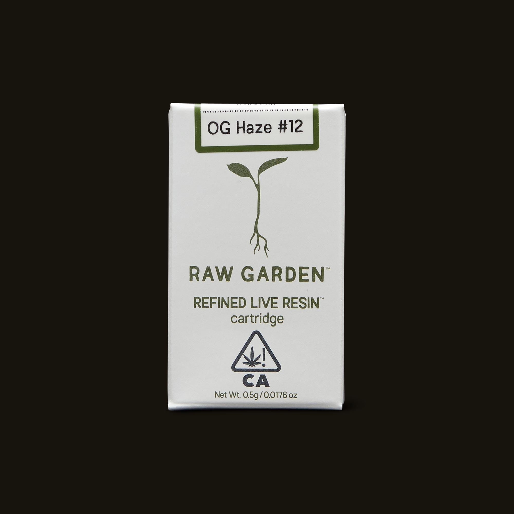 OG Haze #12 Cartridge - 500mg cartridge