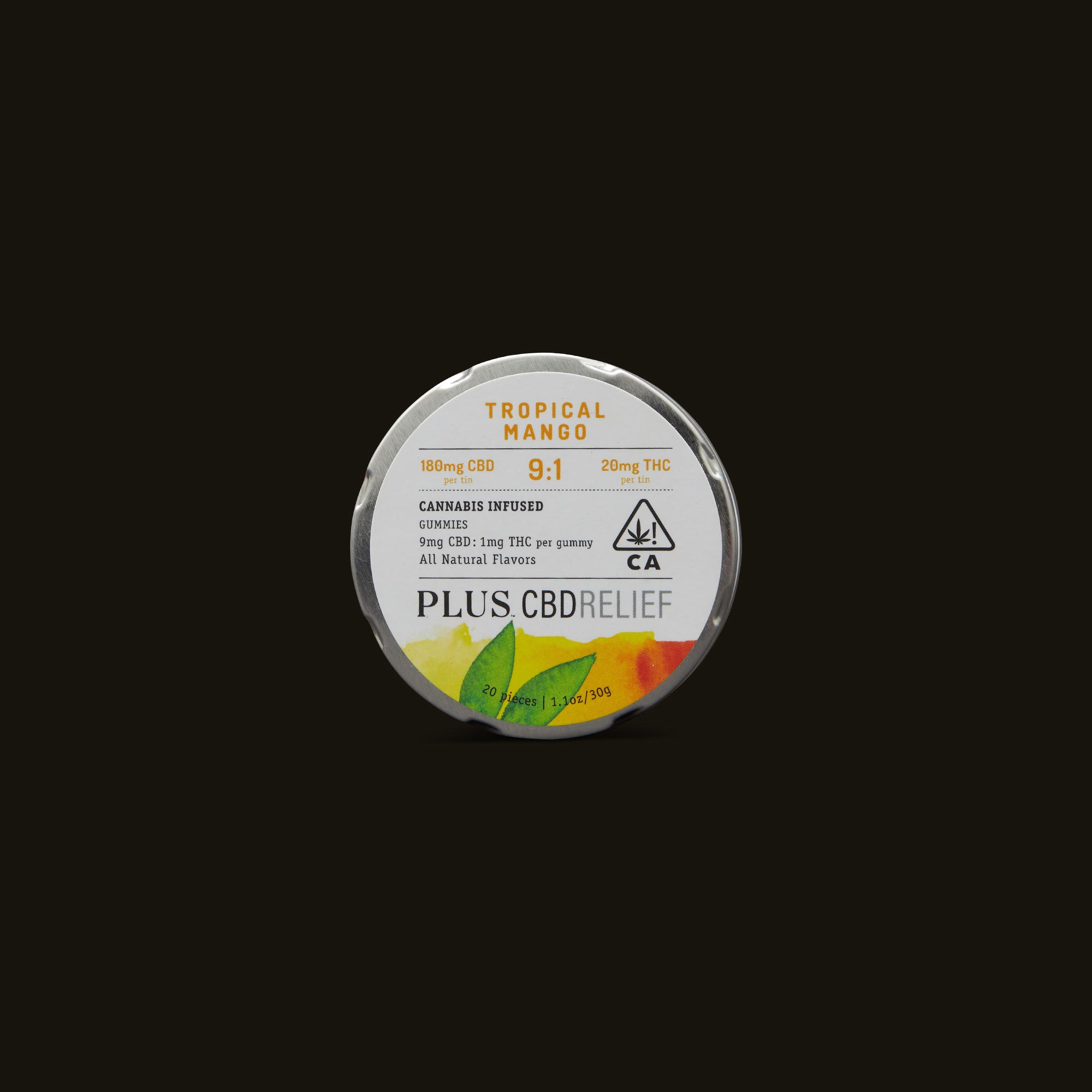 Plus CBD Relief 9:1 Tropical Mango Gummies
