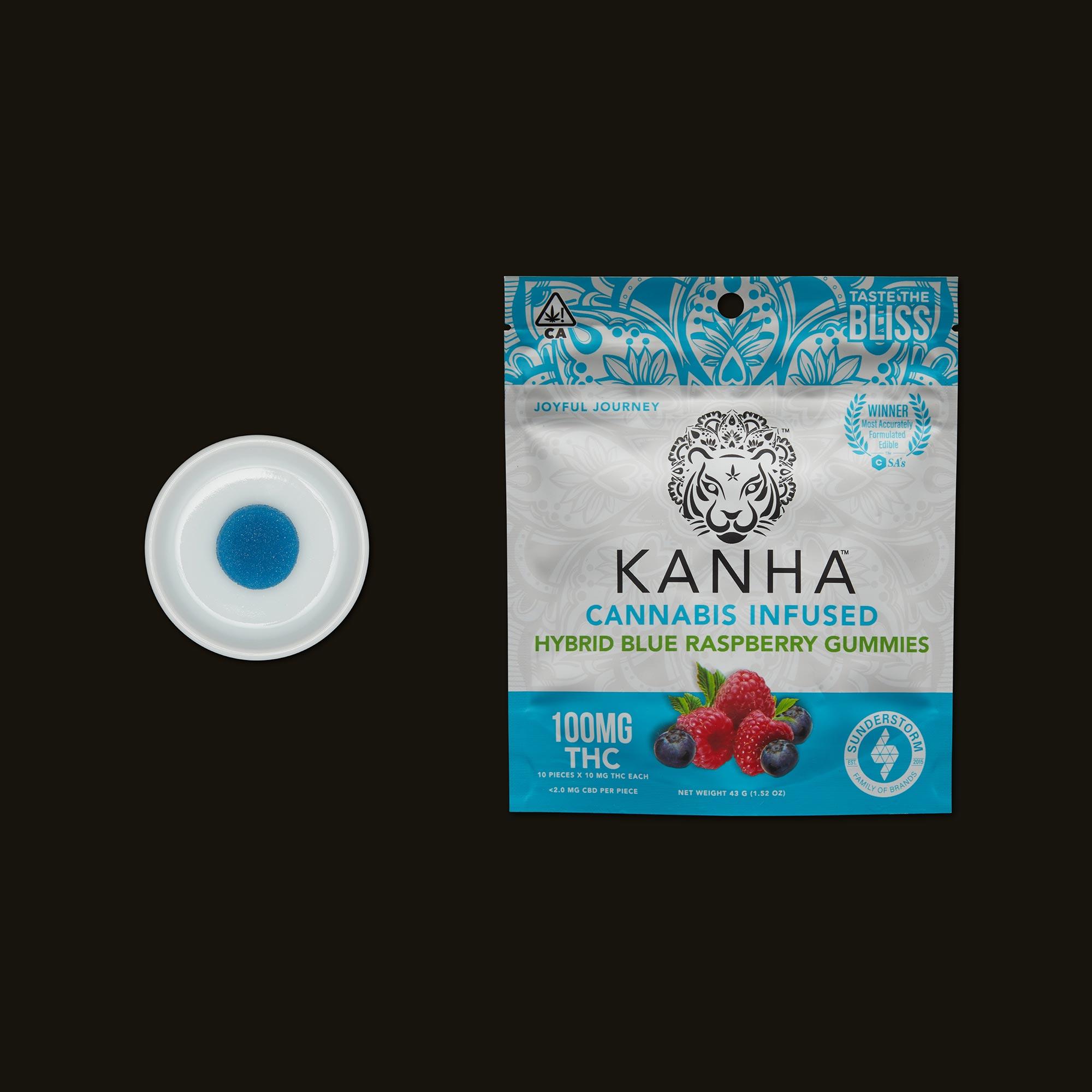 Kanha Hybrid Blue Raspberry Gummies