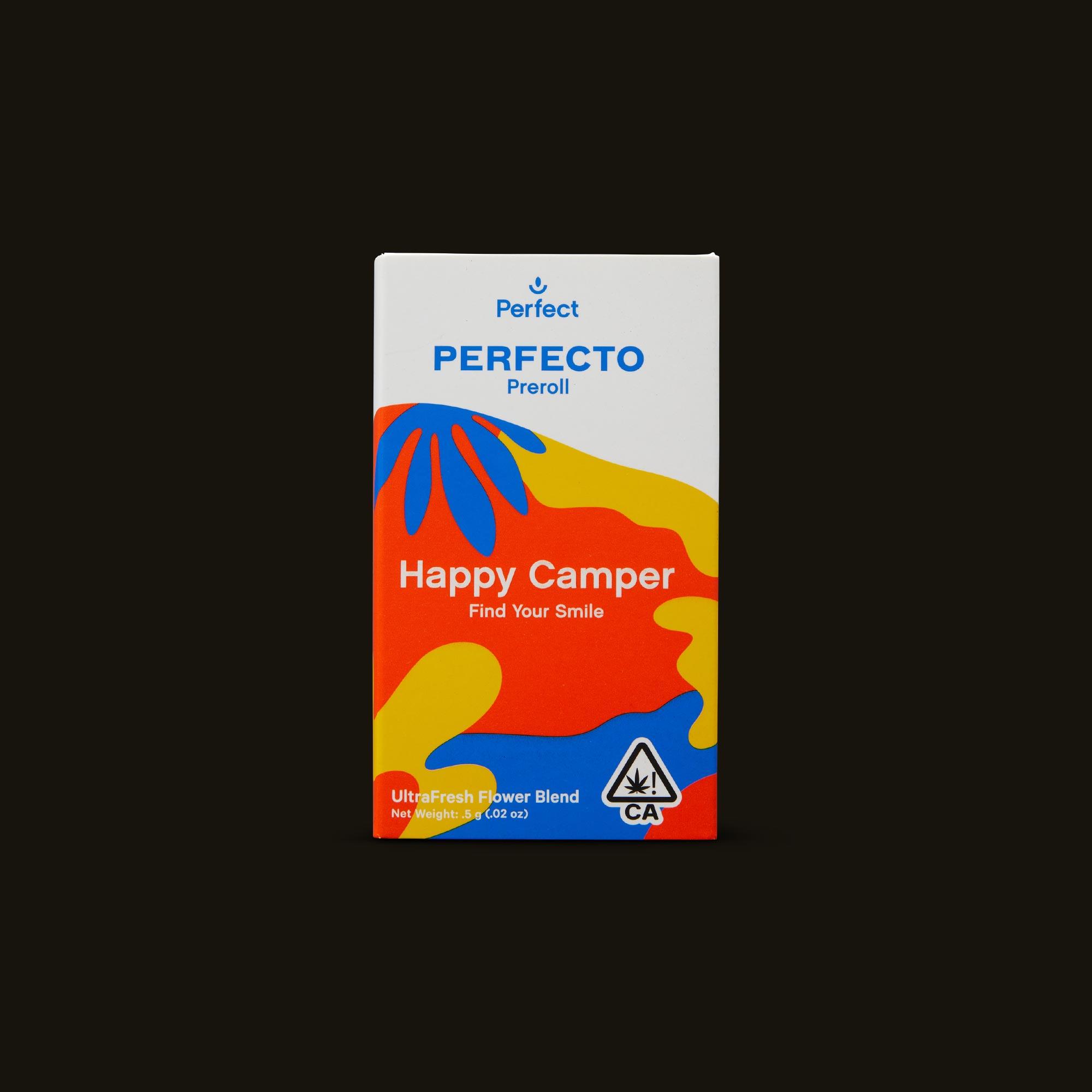 Perfect Happy Camper Perfecto Pre-Roll Front of Box