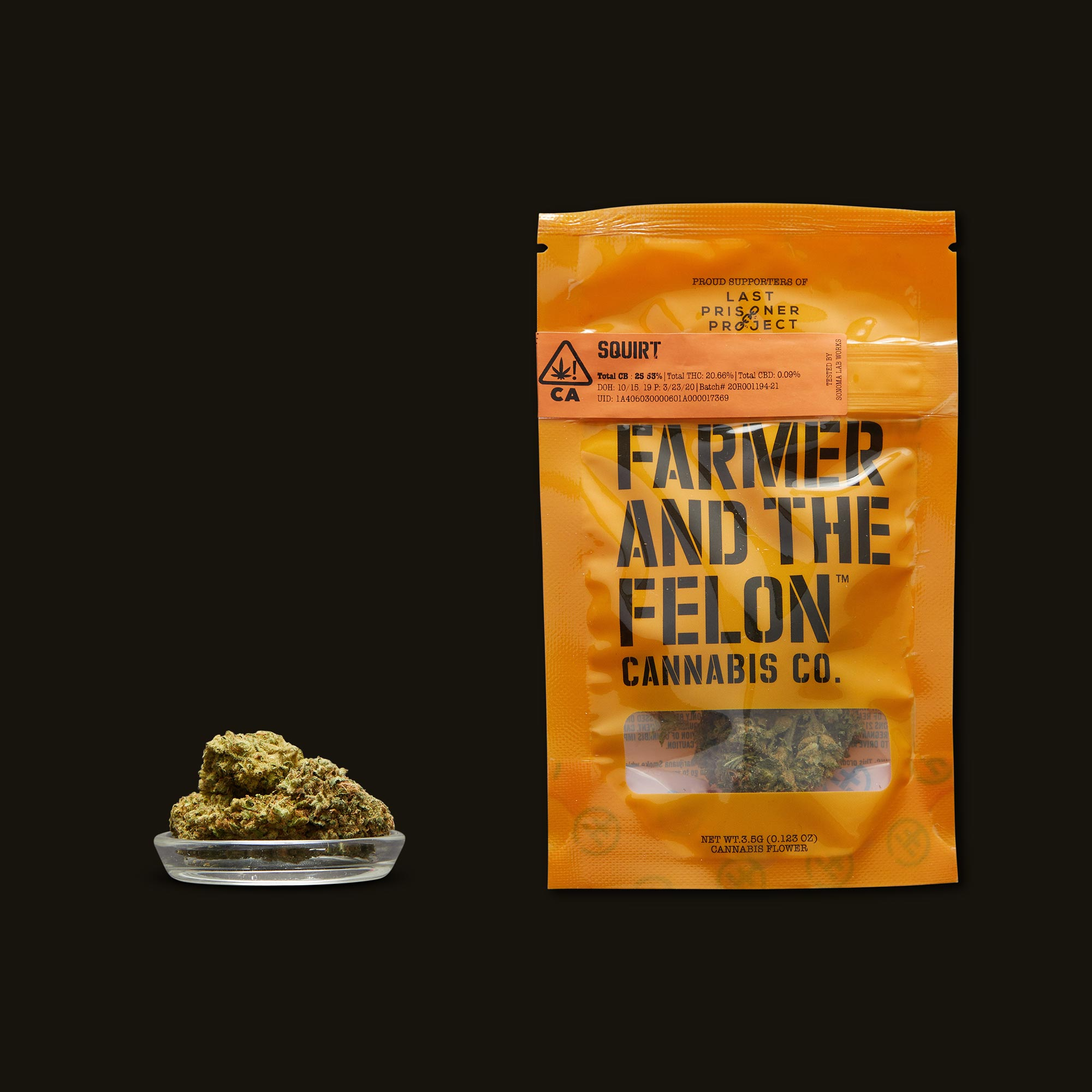 Farmer and the Felon Squirt Flower with Packaging