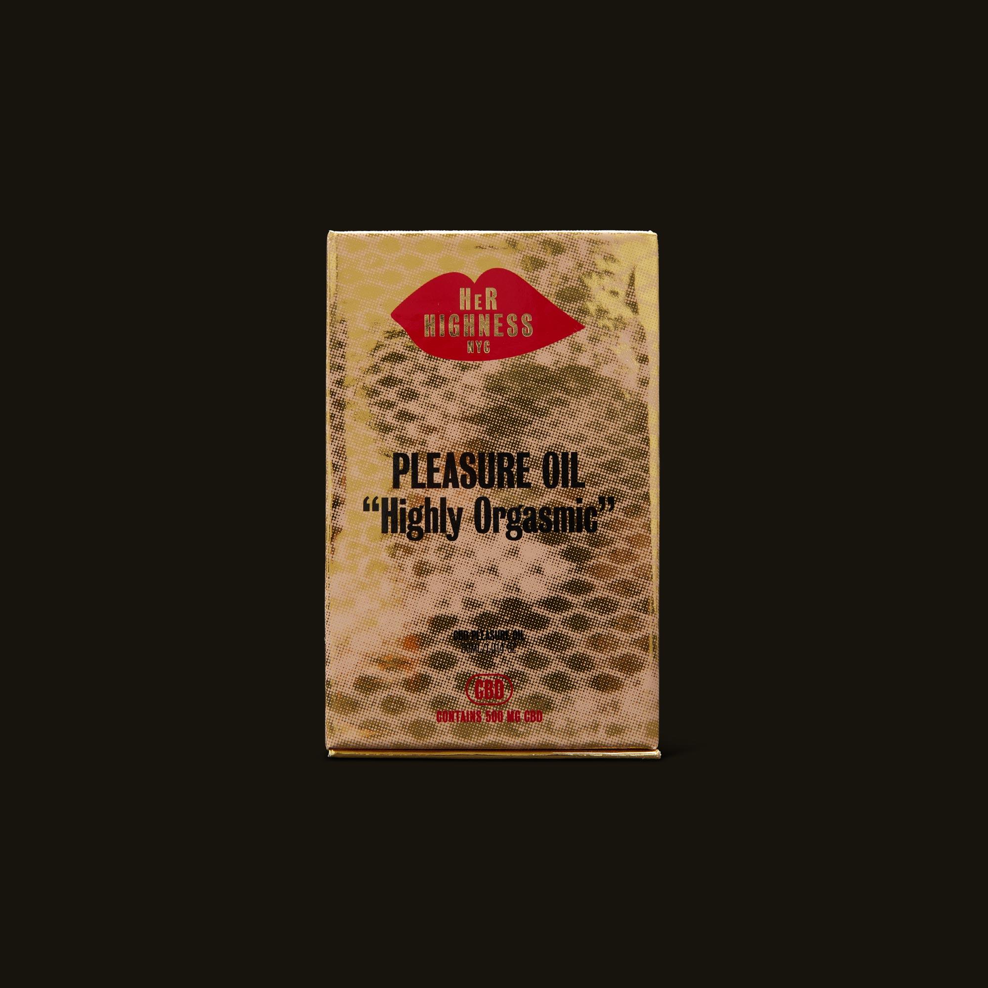 Her Highness CBD Pleasure Oil Front of Box