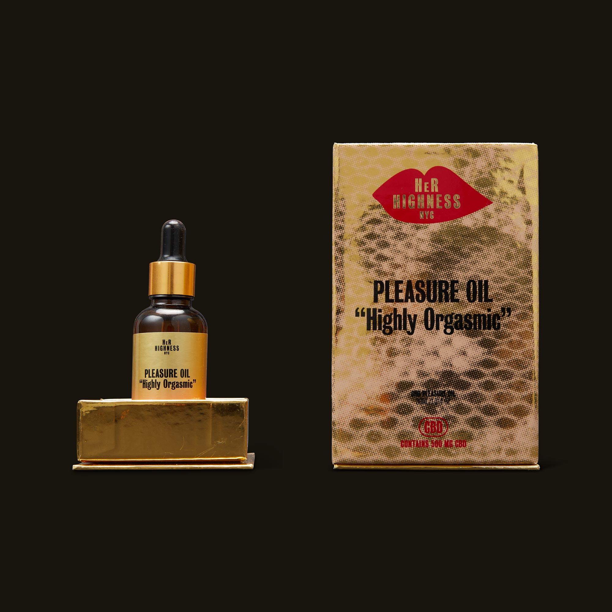 Her Highness CBD Pleasure Oil Open Box