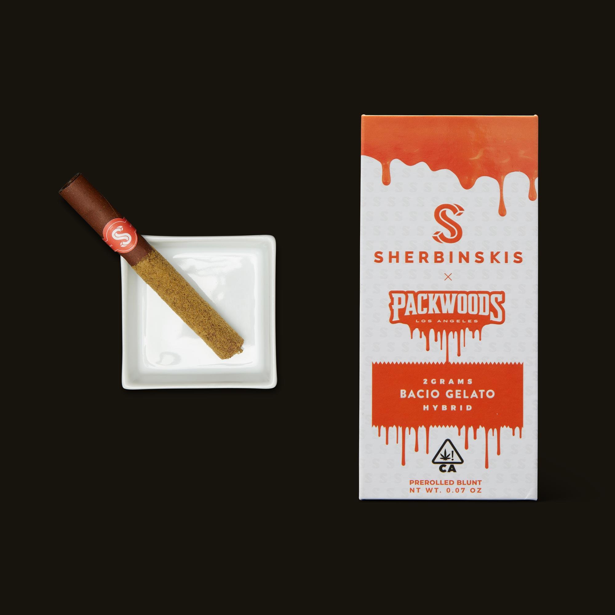 Packwoods Sherbinskis x Packwoods Bacio Gelato Blunt