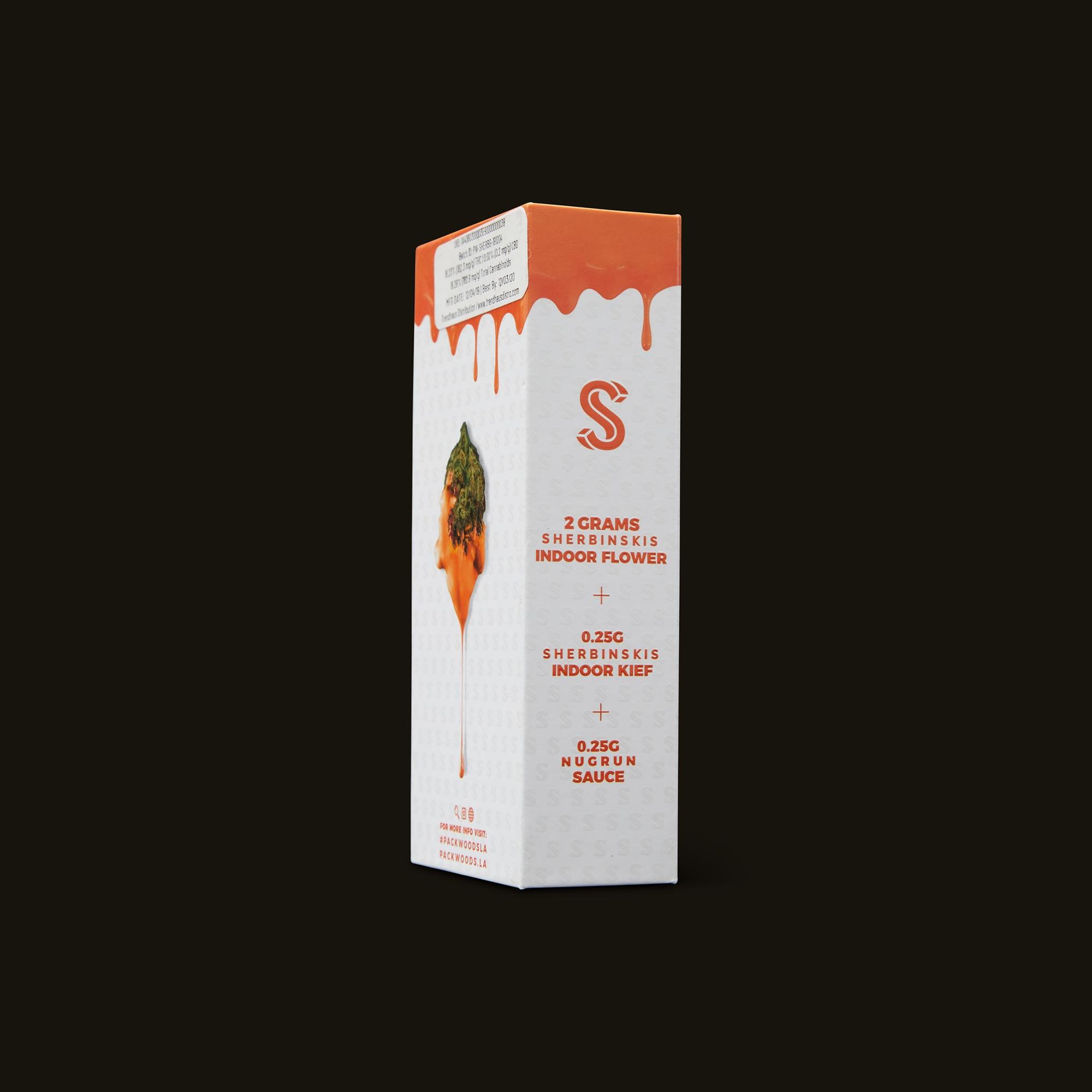 Packwoods Sherbinskis x Packwoods Bacio Gelato Blunt Ingredients