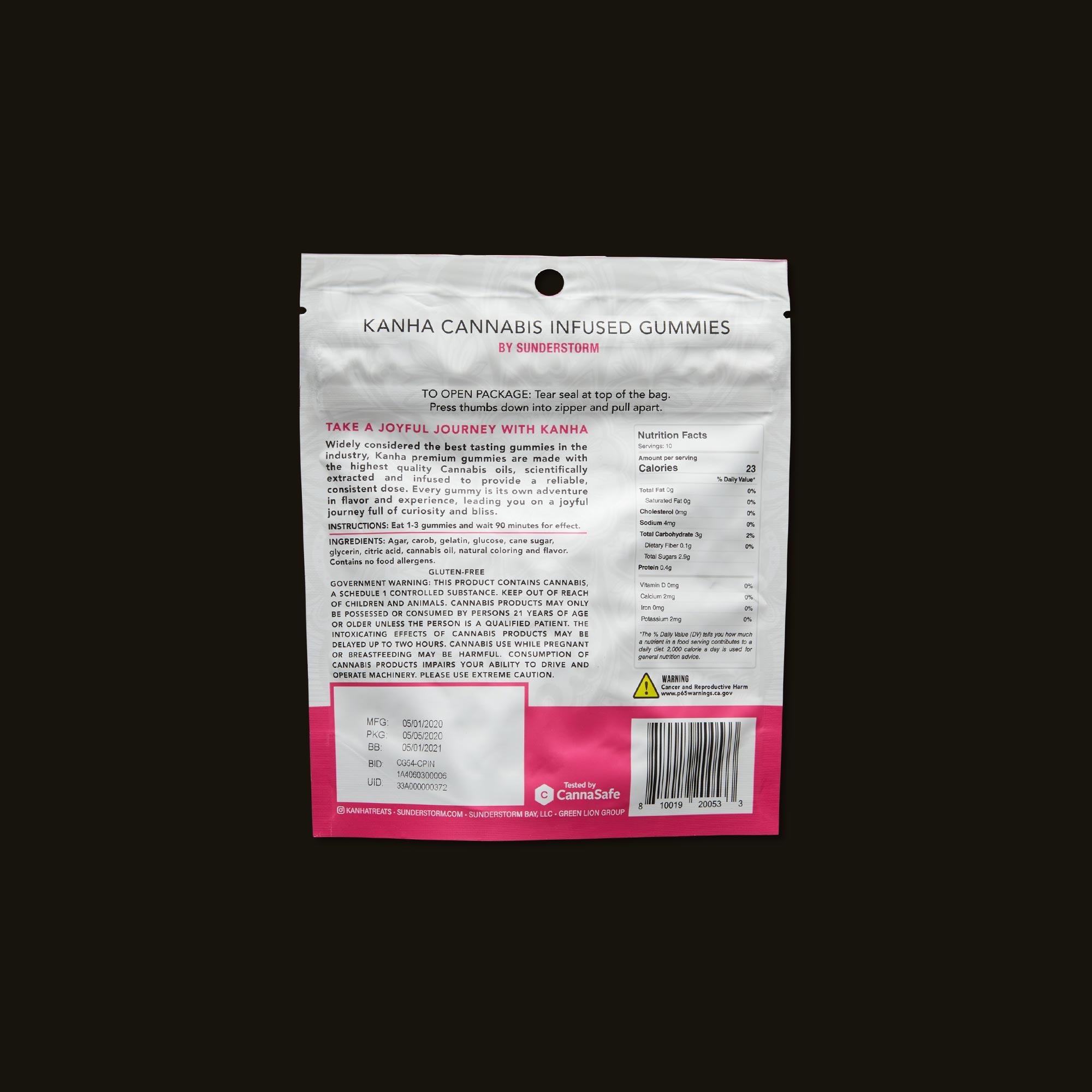 Kanha 1:1 Pink Lemonade Gummies Ingredients