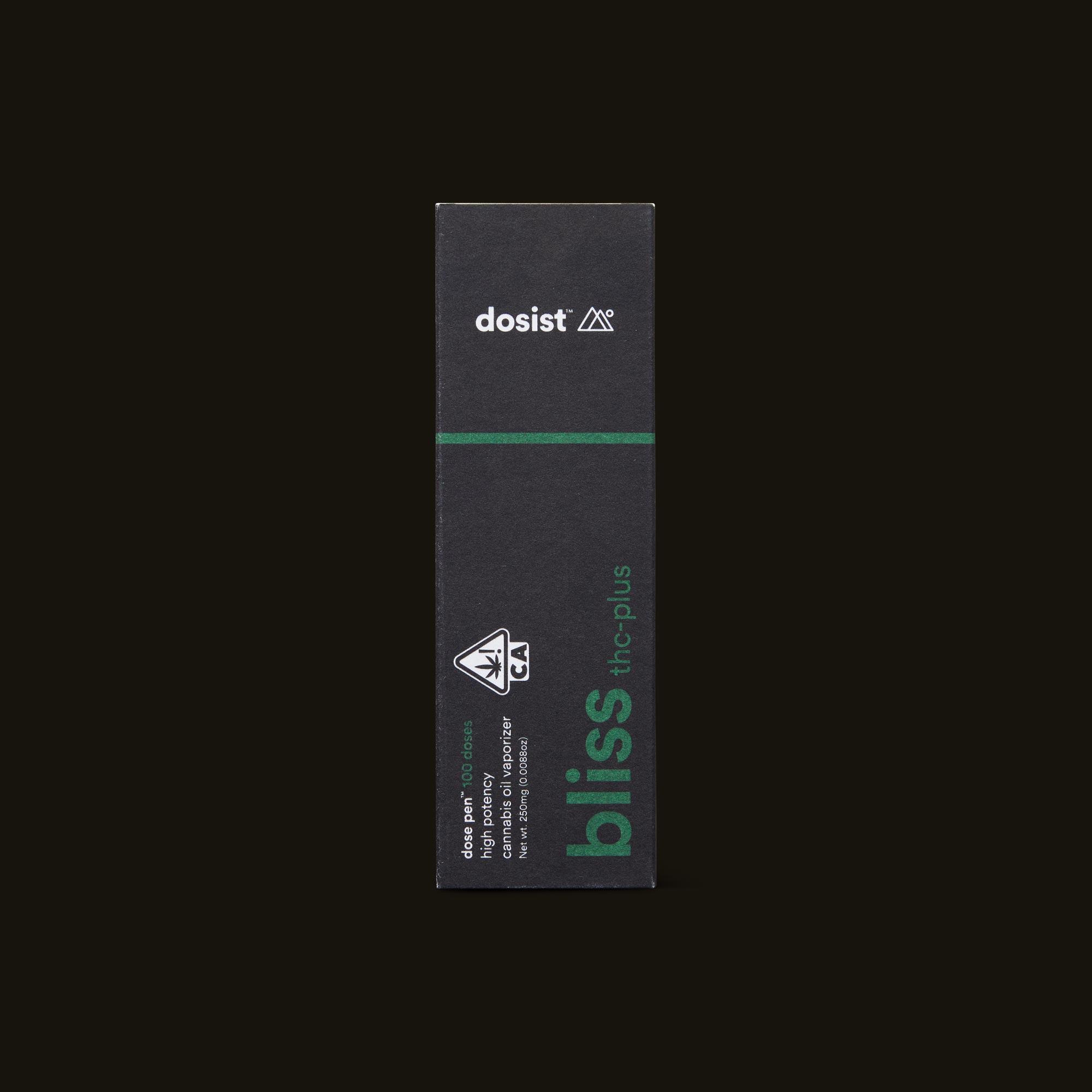 dosist bliss thc-plus dose pen front box