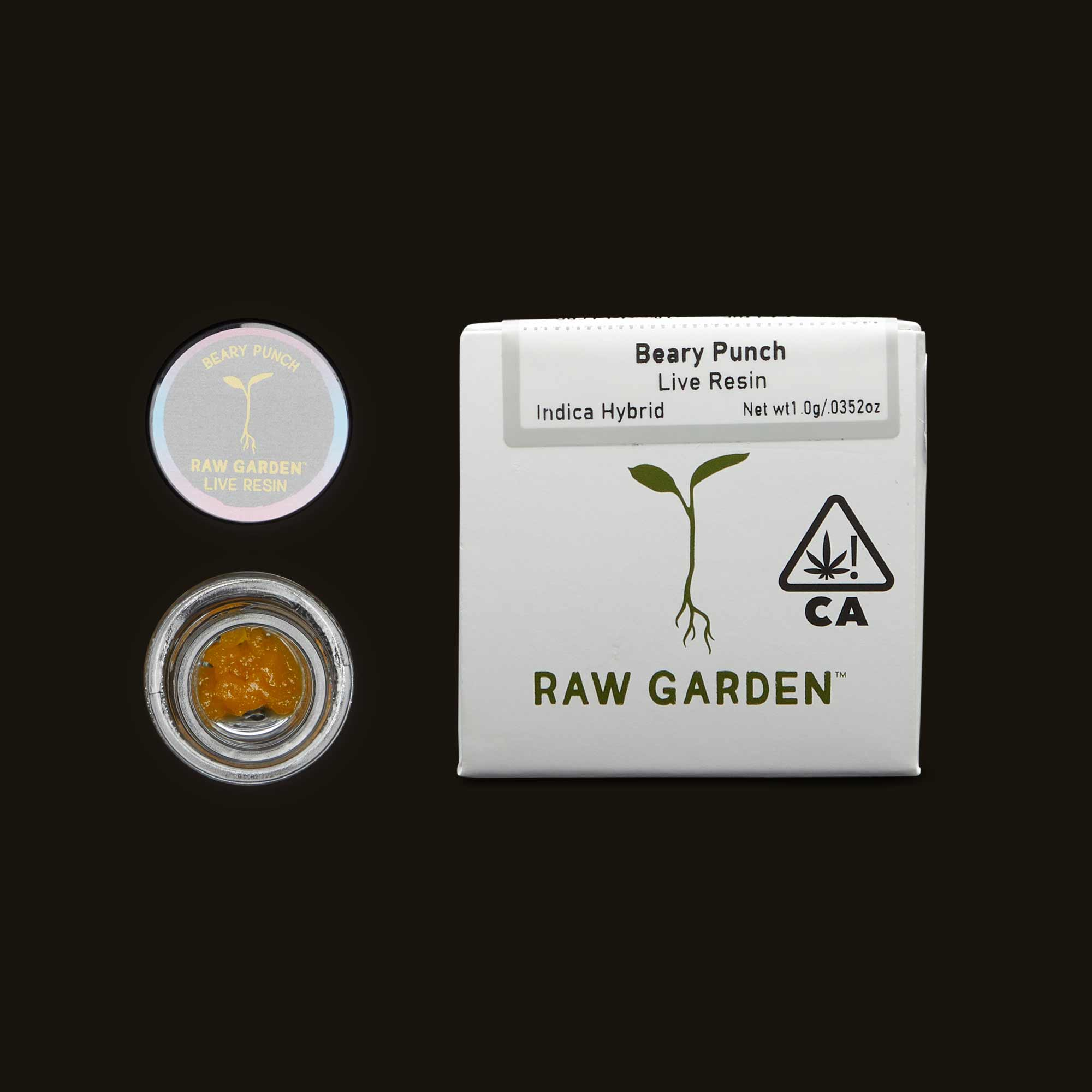 Raw Garden Beary Punch concentrate open container