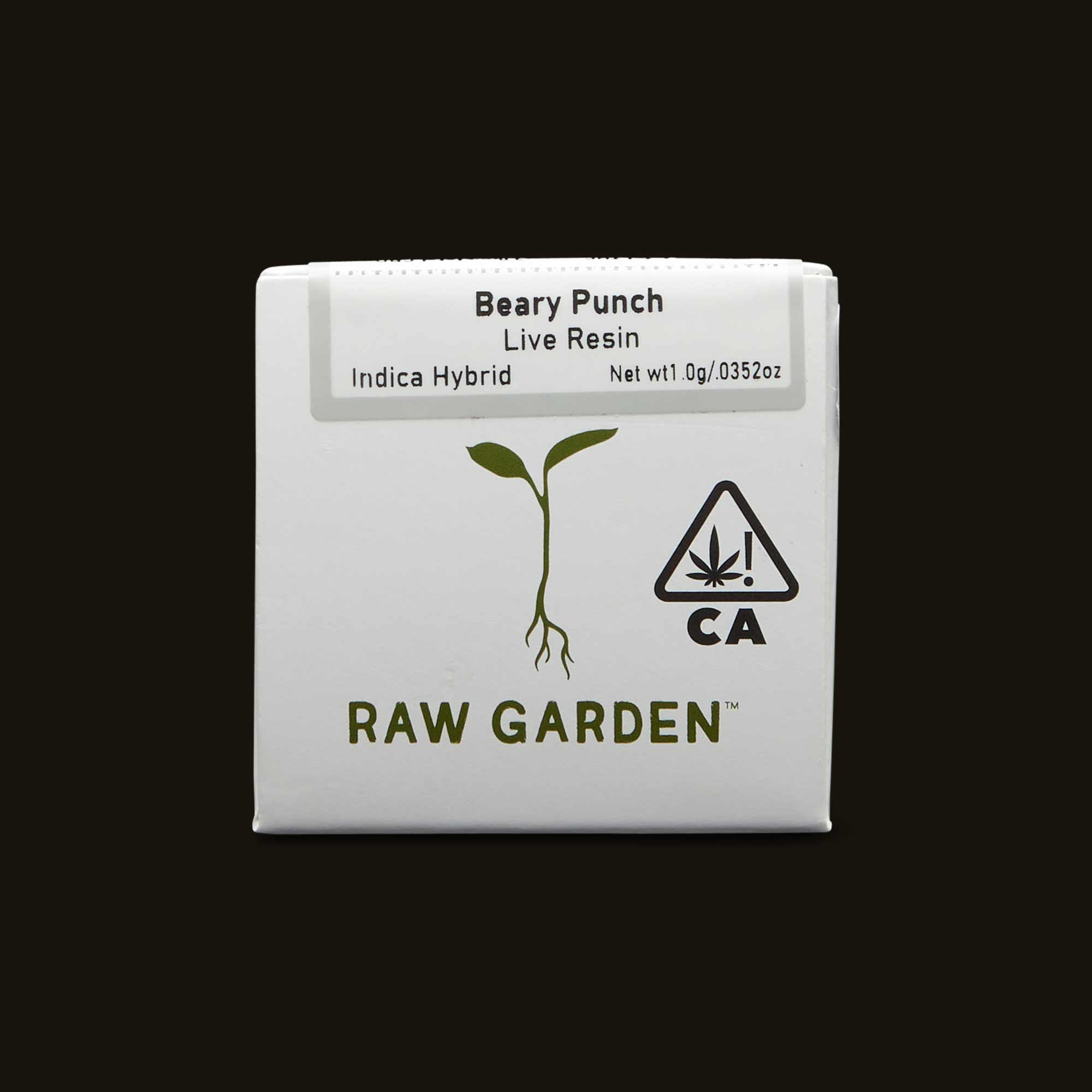 Beary Punch Live Resin by Raw Garden unopened box