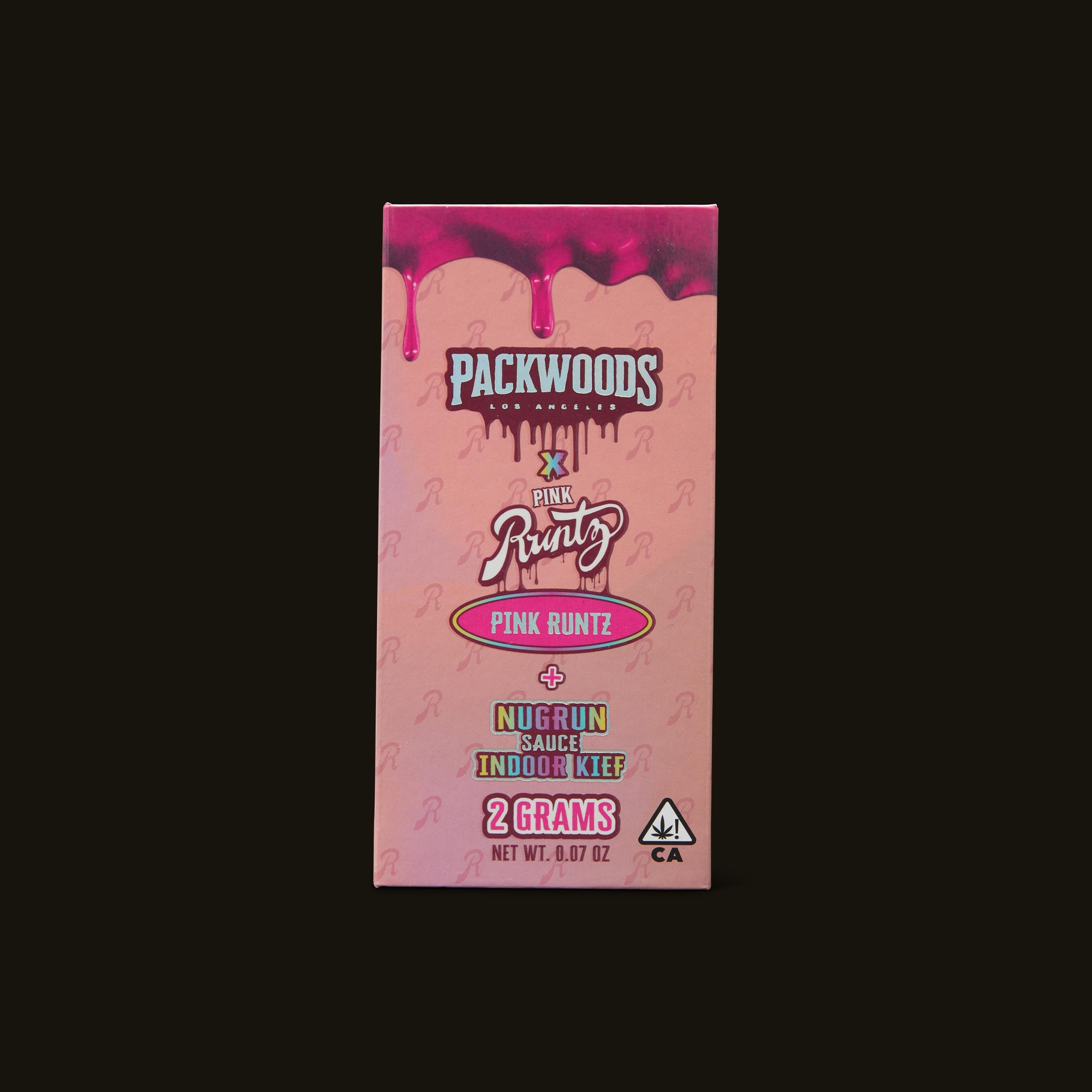 Packwoods Pink Runtz Pre-Roll Front Packaging