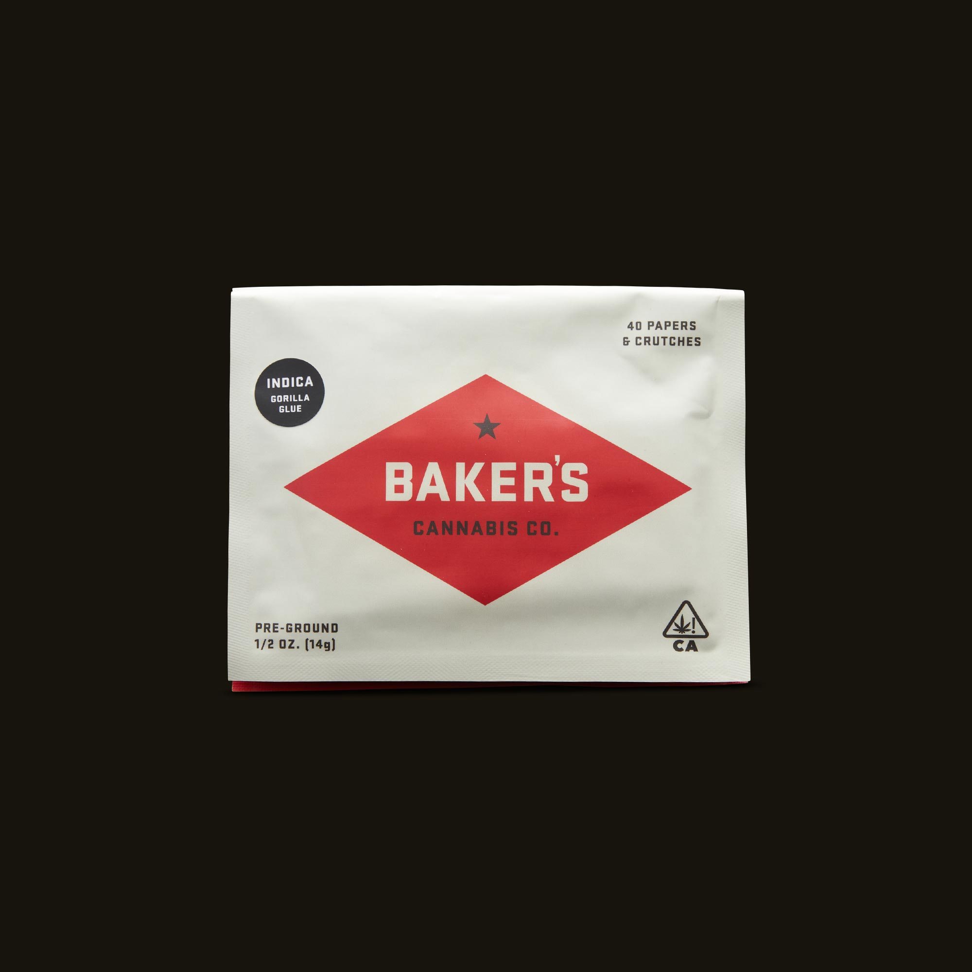 Baker's Gorilla Glue Pre-Ground Half Ounce Packaging